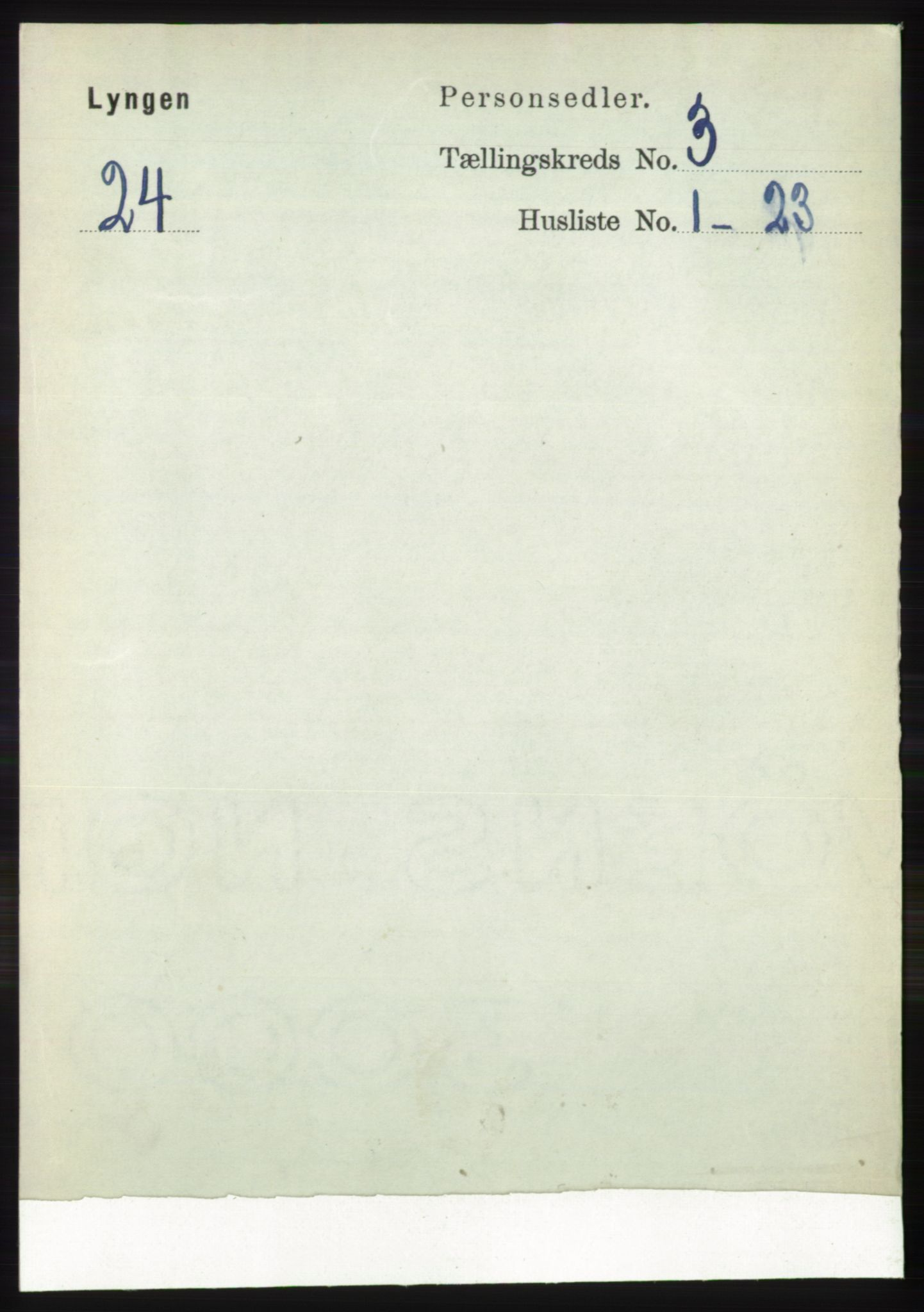 RA, Folketelling 1891 for 1938 Lyngen herred, 1891, s. 3136