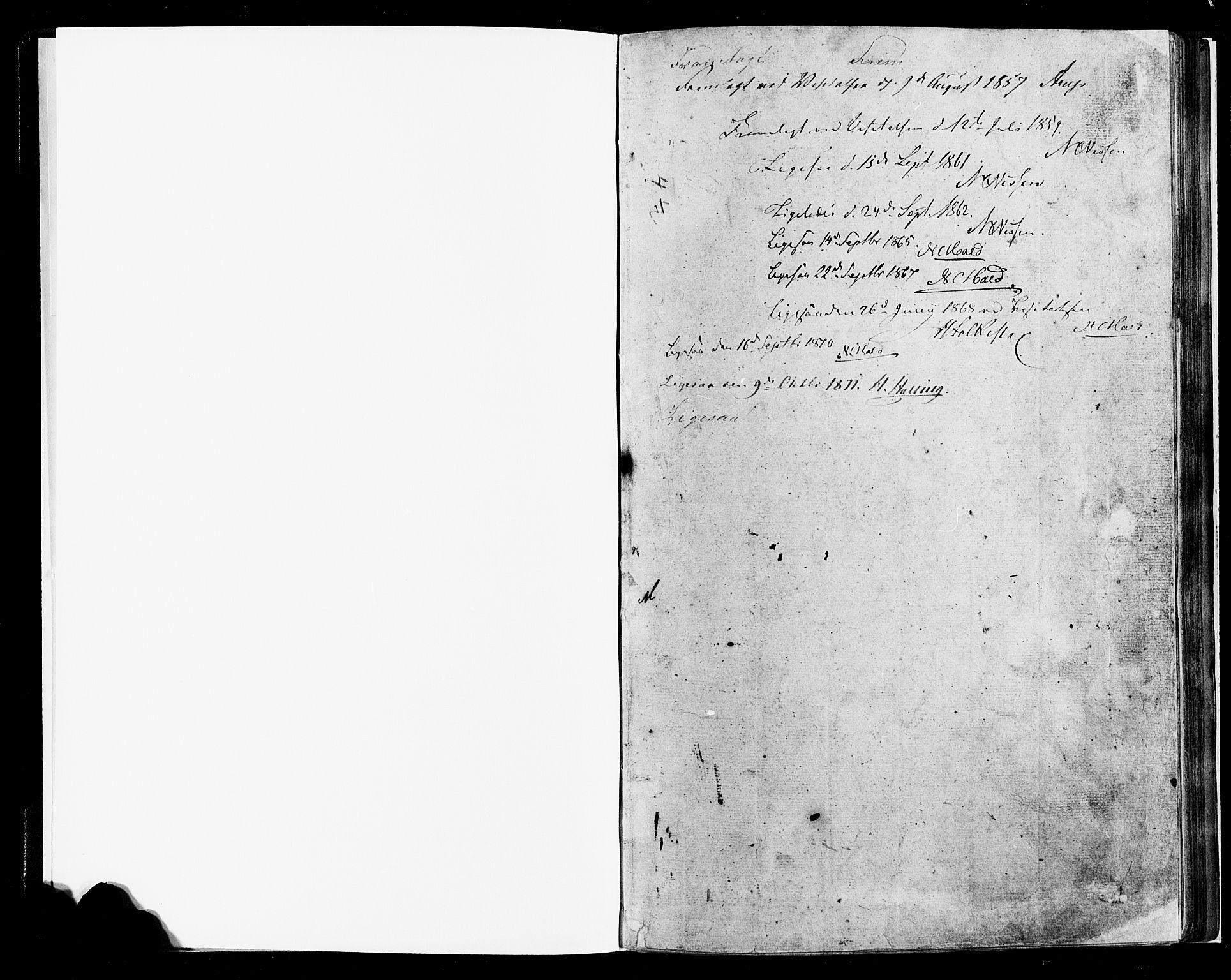 SAH, Lesja prestekontor, Klokkerbok nr. 4, 1842-1871