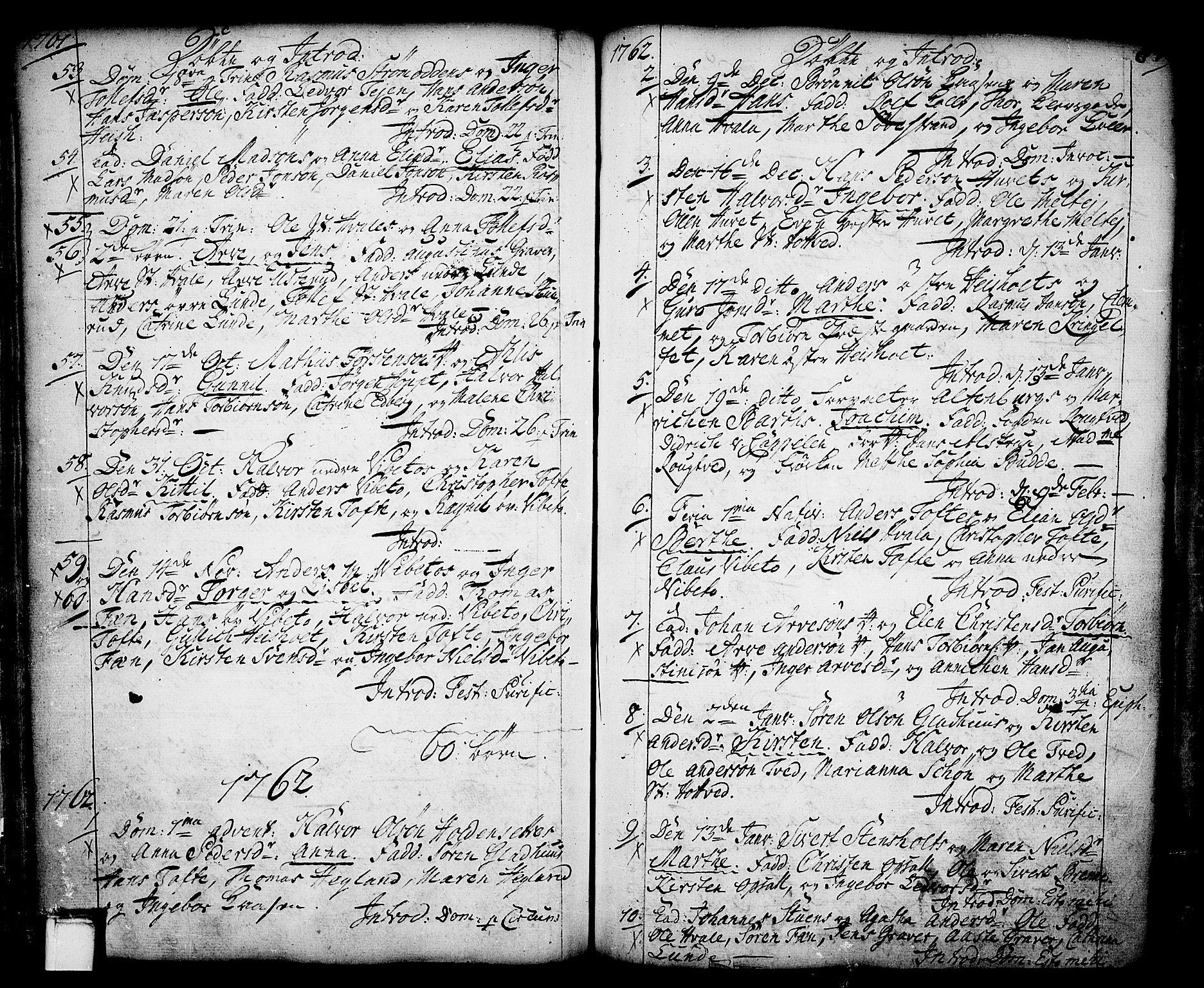 SAKO, Holla kirkebøker, F/Fa/L0001: Ministerialbok nr. 1, 1717-1779, s. 87
