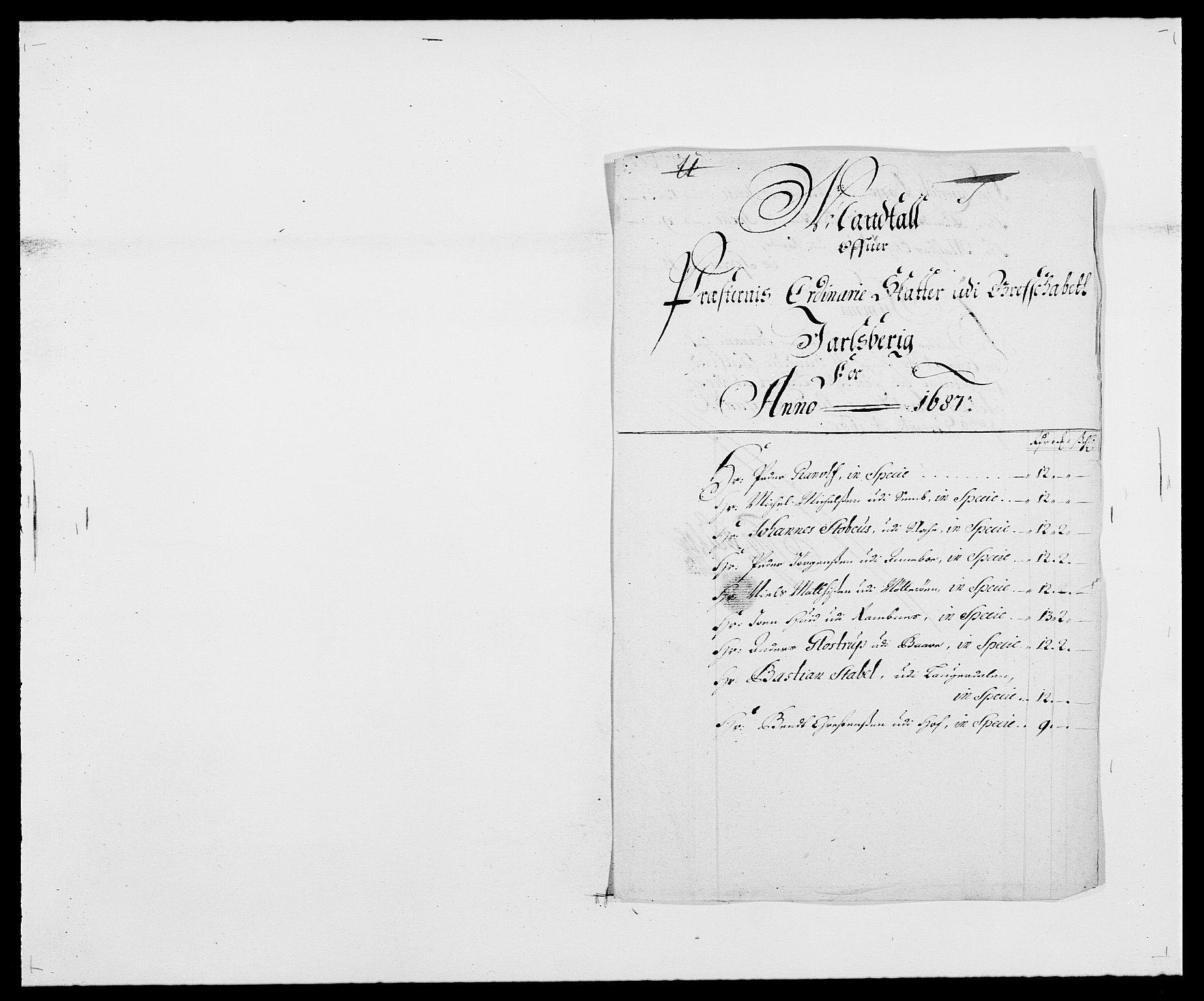 RA, Rentekammeret inntil 1814, Reviderte regnskaper, Fogderegnskap, R32/L1858: Fogderegnskap Jarlsberg grevskap, 1686-1690, s. 329