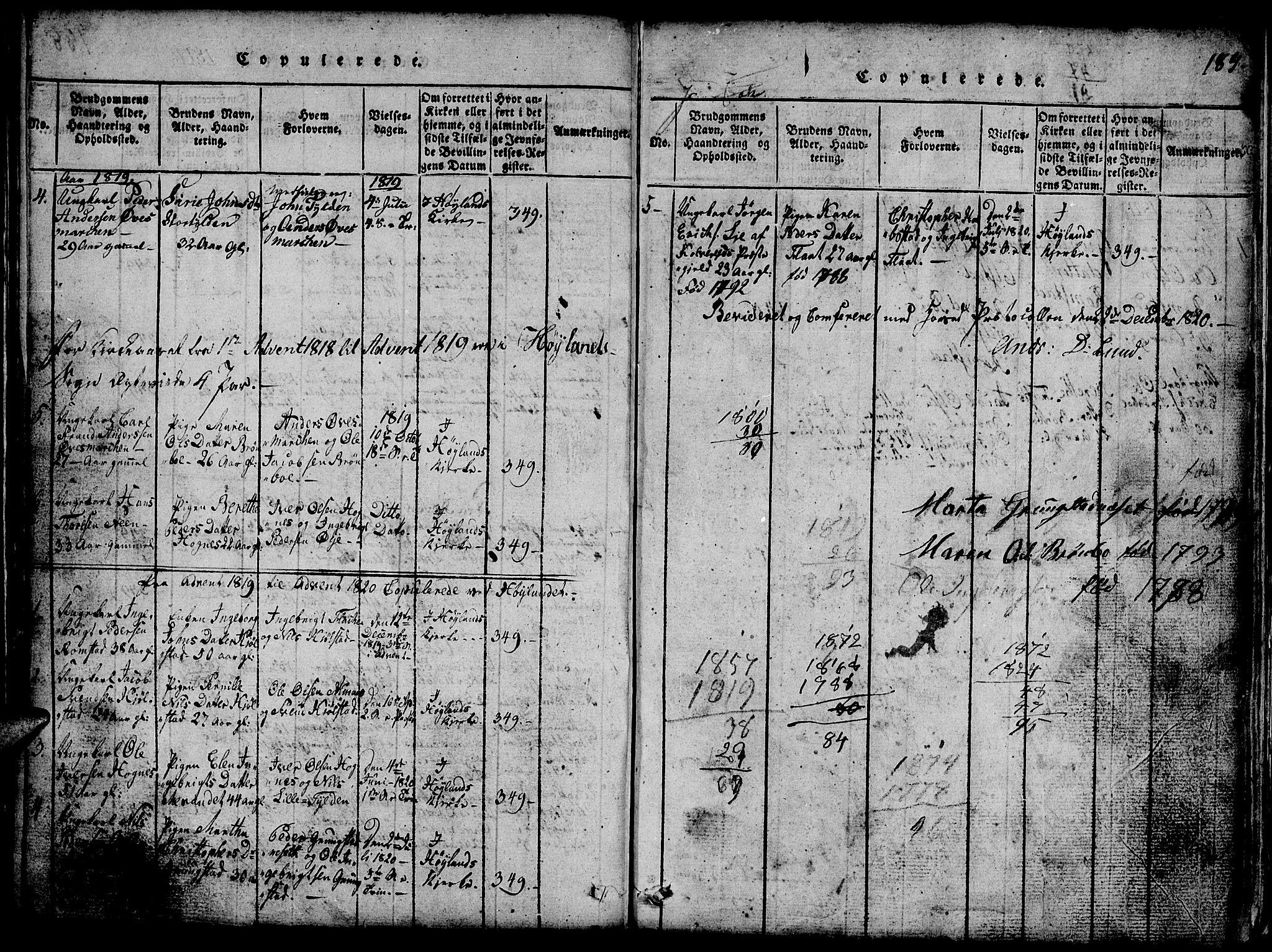SAT, Ministerialprotokoller, klokkerbøker og fødselsregistre - Nord-Trøndelag, 765/L0562: Klokkerbok nr. 765C01, 1817-1851, s. 189