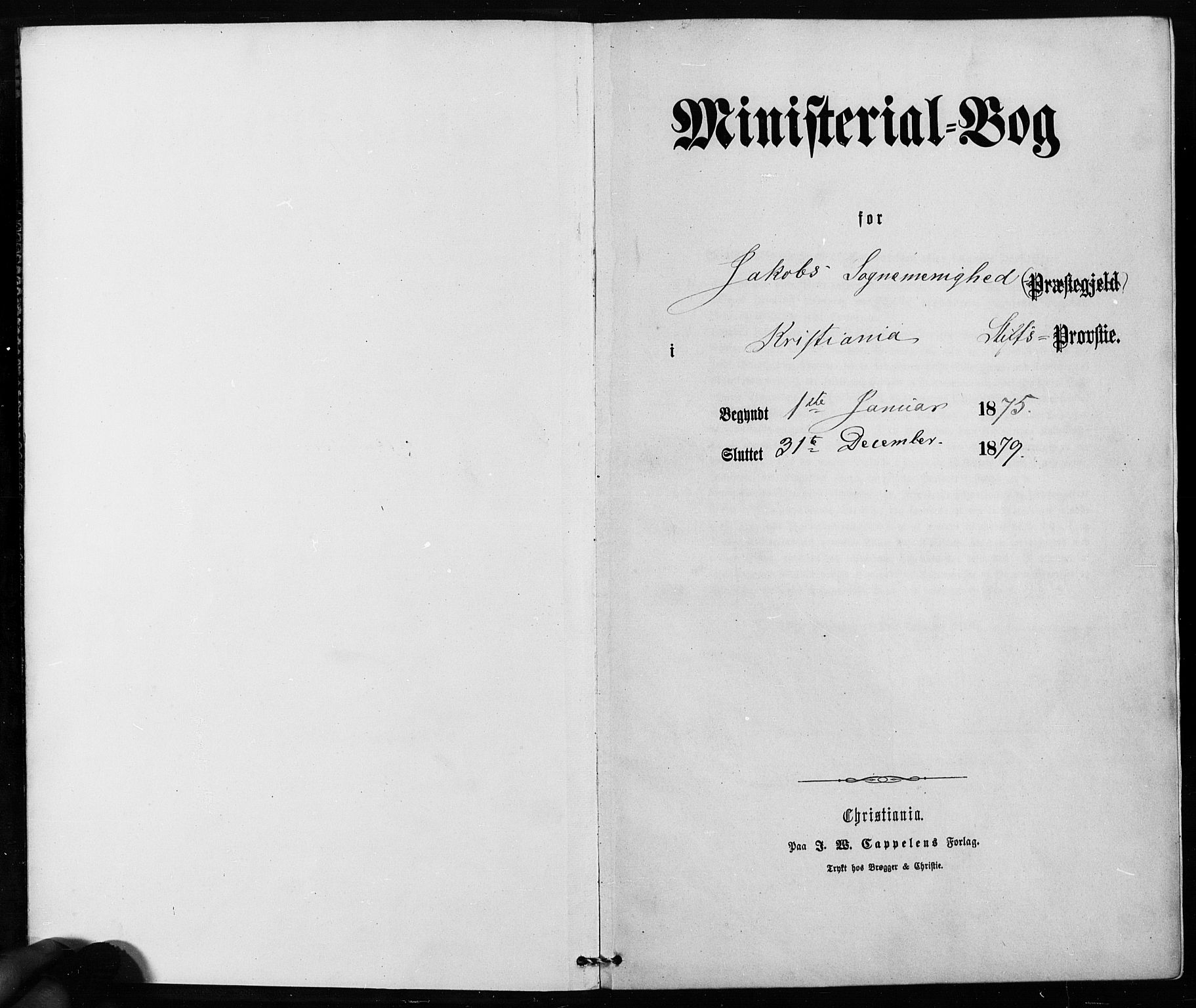 SAO, Jakob prestekontor Kirkebøker, F/Fa/L0002: Ministerialbok nr. 2, 1875-1879
