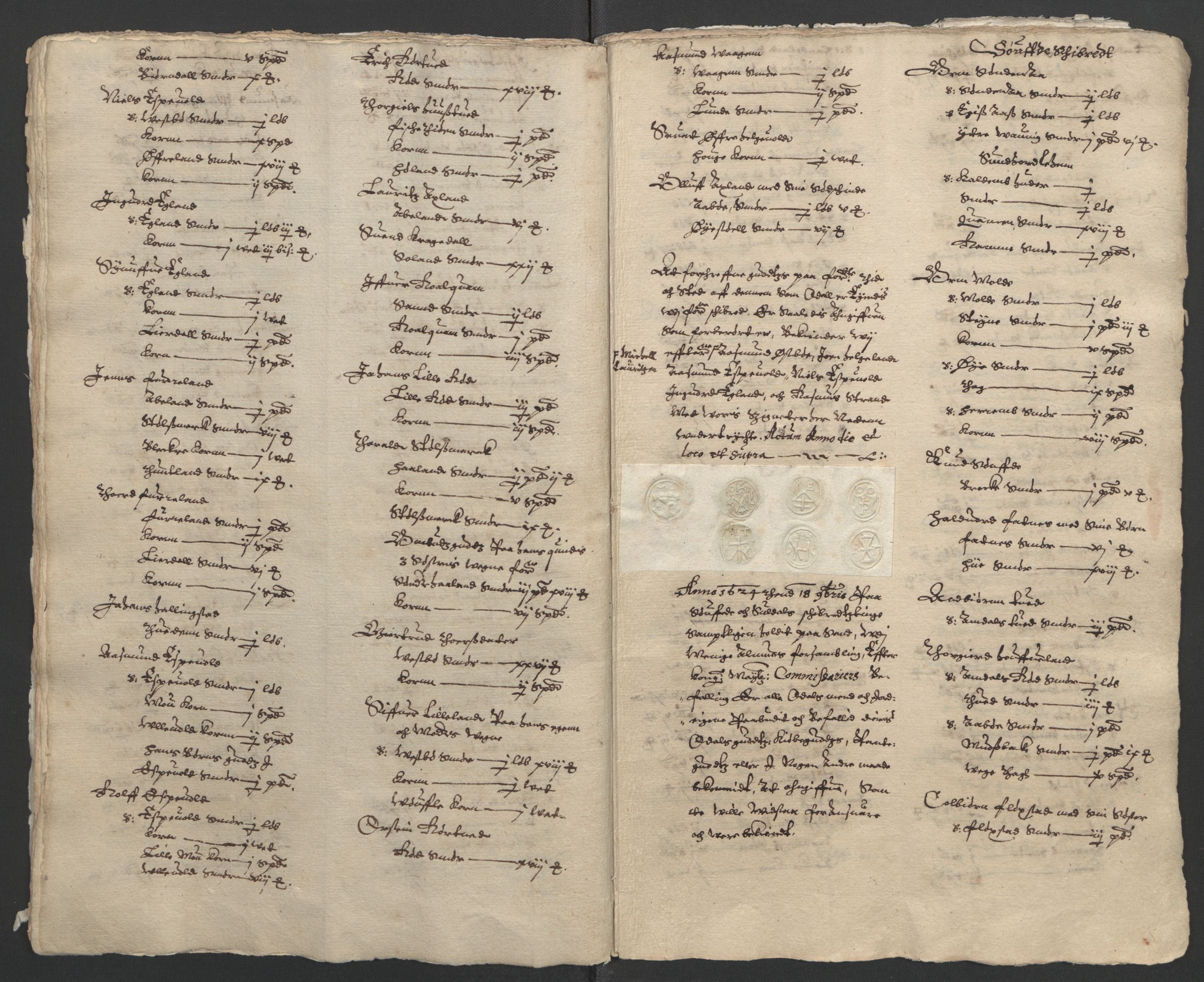 RA, Stattholderembetet 1572-1771, Ek/L0010: Jordebøker til utlikning av rosstjeneste 1624-1626:, 1624-1626, s. 18