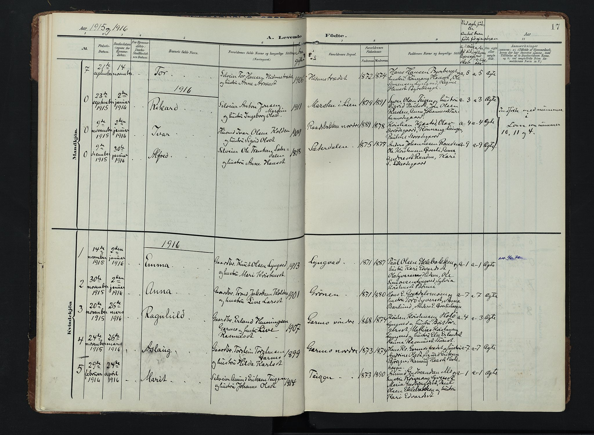 SAH, Lom prestekontor, K/L0011: Ministerialbok nr. 11, 1904-1928, s. 17