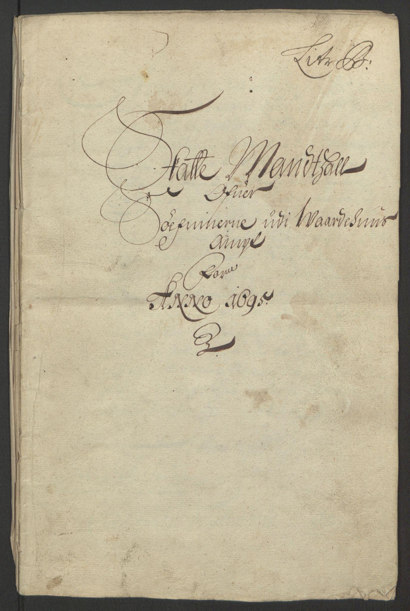 RA, Rentekammeret inntil 1814, Reviderte regnskaper, Fogderegnskap, R69/L4851: Fogderegnskap Finnmark/Vardøhus, 1691-1700, s. 239