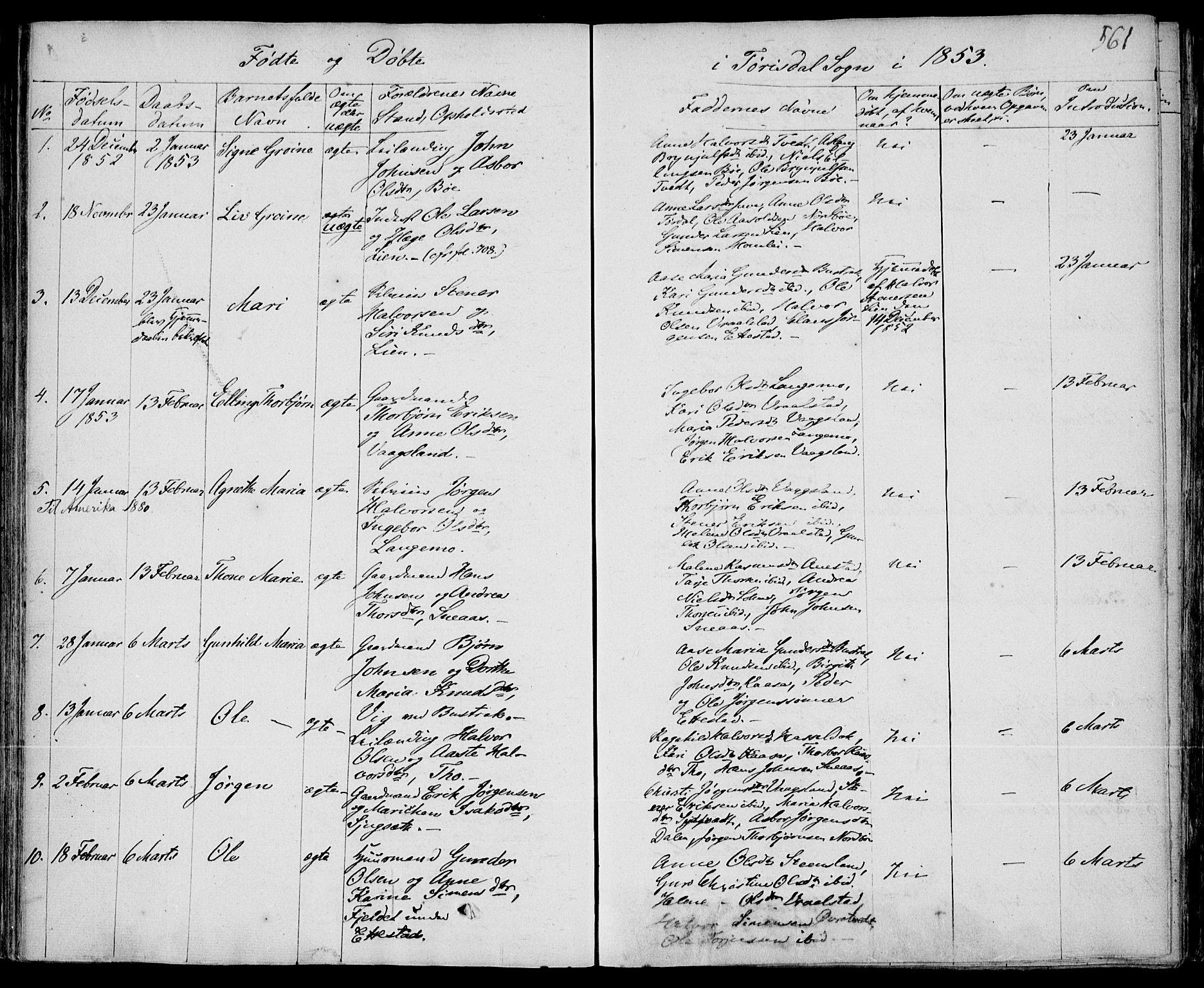 SAKO, Drangedal kirkebøker, F/Fa/L0007b: Ministerialbok nr. 7b, 1837-1856, s. 561