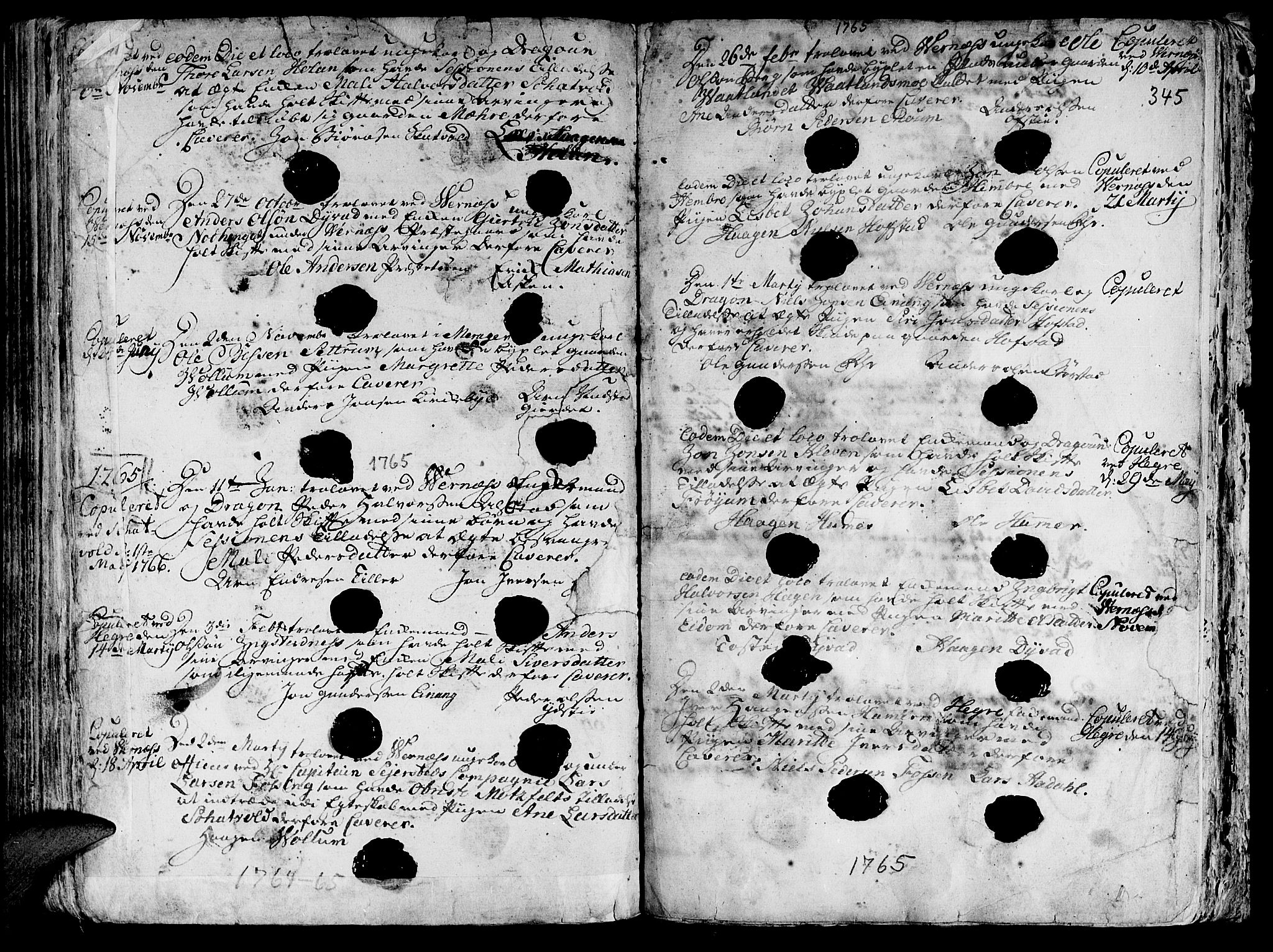 SAT, Ministerialprotokoller, klokkerbøker og fødselsregistre - Nord-Trøndelag, 709/L0057: Ministerialbok nr. 709A05, 1755-1780, s. 345