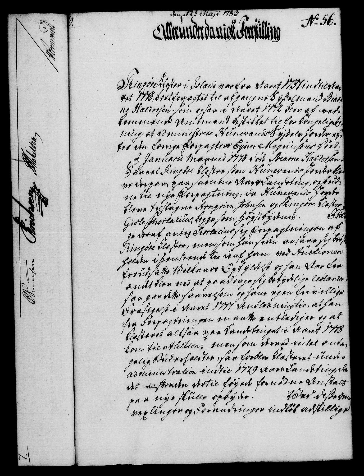 RA, Rentekammeret, Kammerkanselliet, G/Gf/Gfa/L0065: Norsk relasjons- og resolusjonsprotokoll (merket RK 52.65), 1783, s. 384