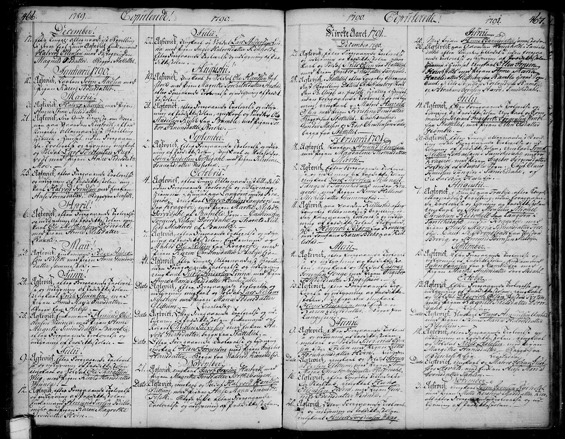 SAKO, Bamble kirkebøker, F/Fa/L0002: Ministerialbok nr. I 2, 1775-1814, s. 466-467