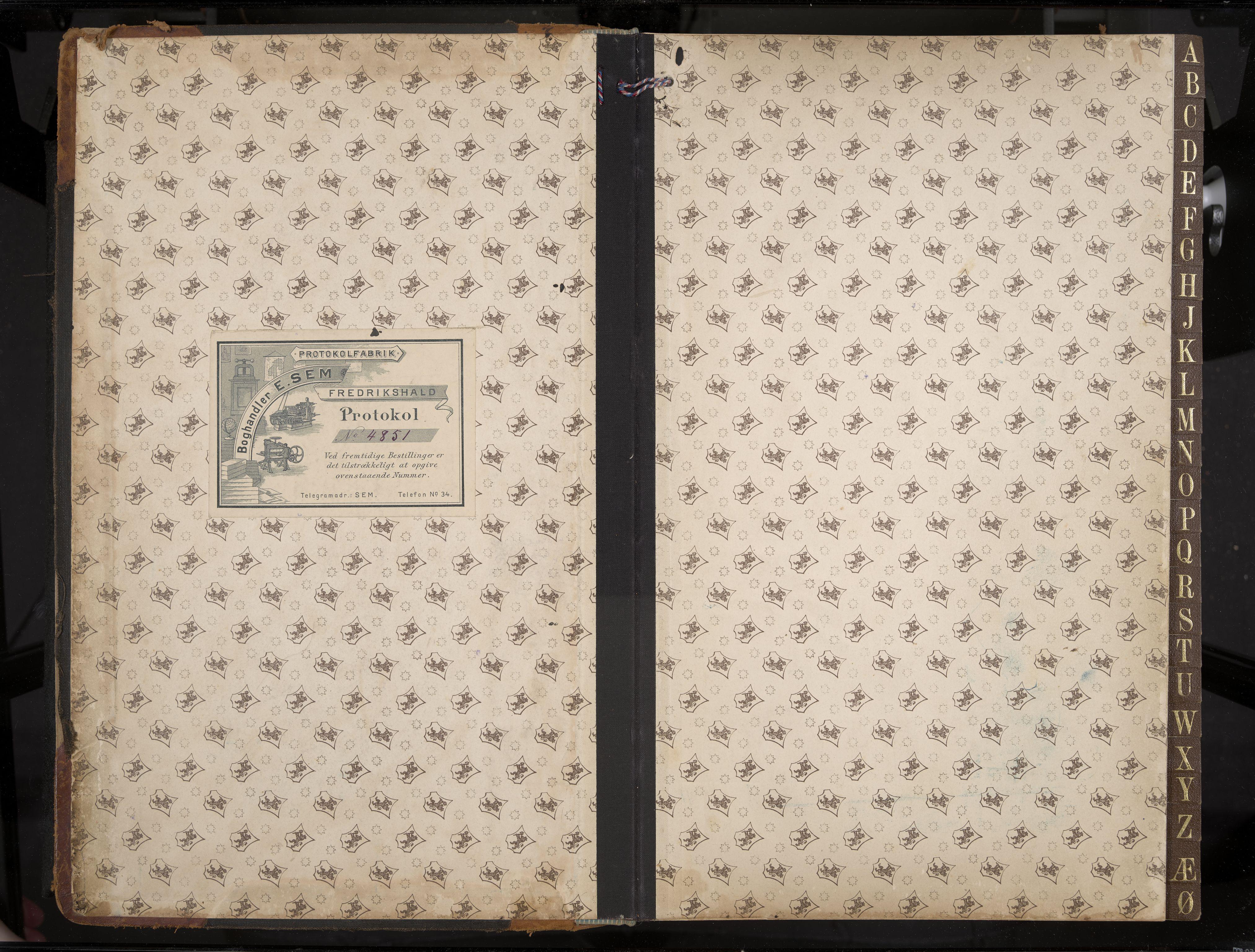 IKAK, Stavern formannskap, Aa/L0005: Møtebok med register, 1905-1917