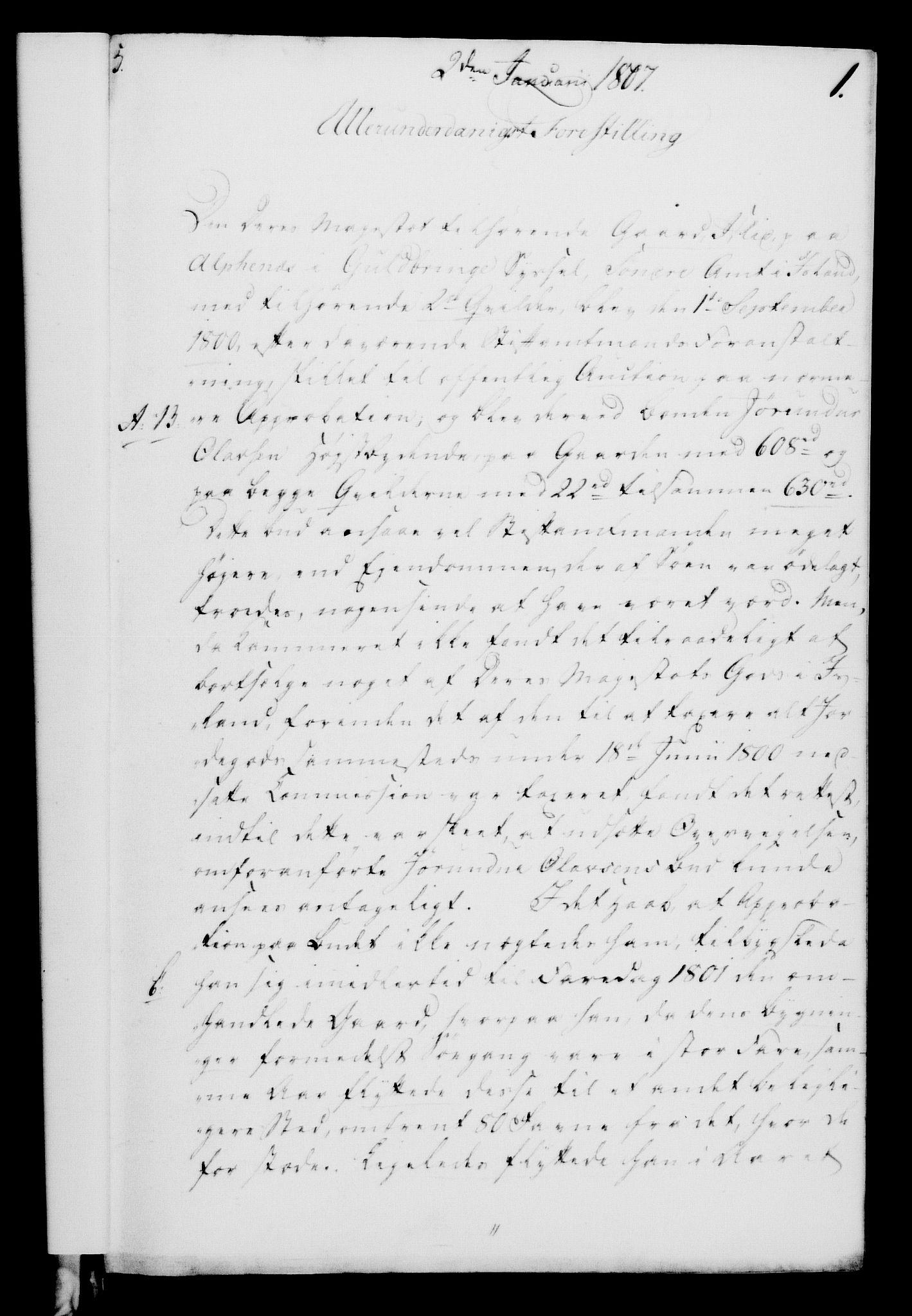 RA, Rentekammeret, Kammerkanselliet, G/Gf/Gfa/L0089: Norsk relasjons- og resolusjonsprotokoll (merket RK 52.89), 1807, s. 30
