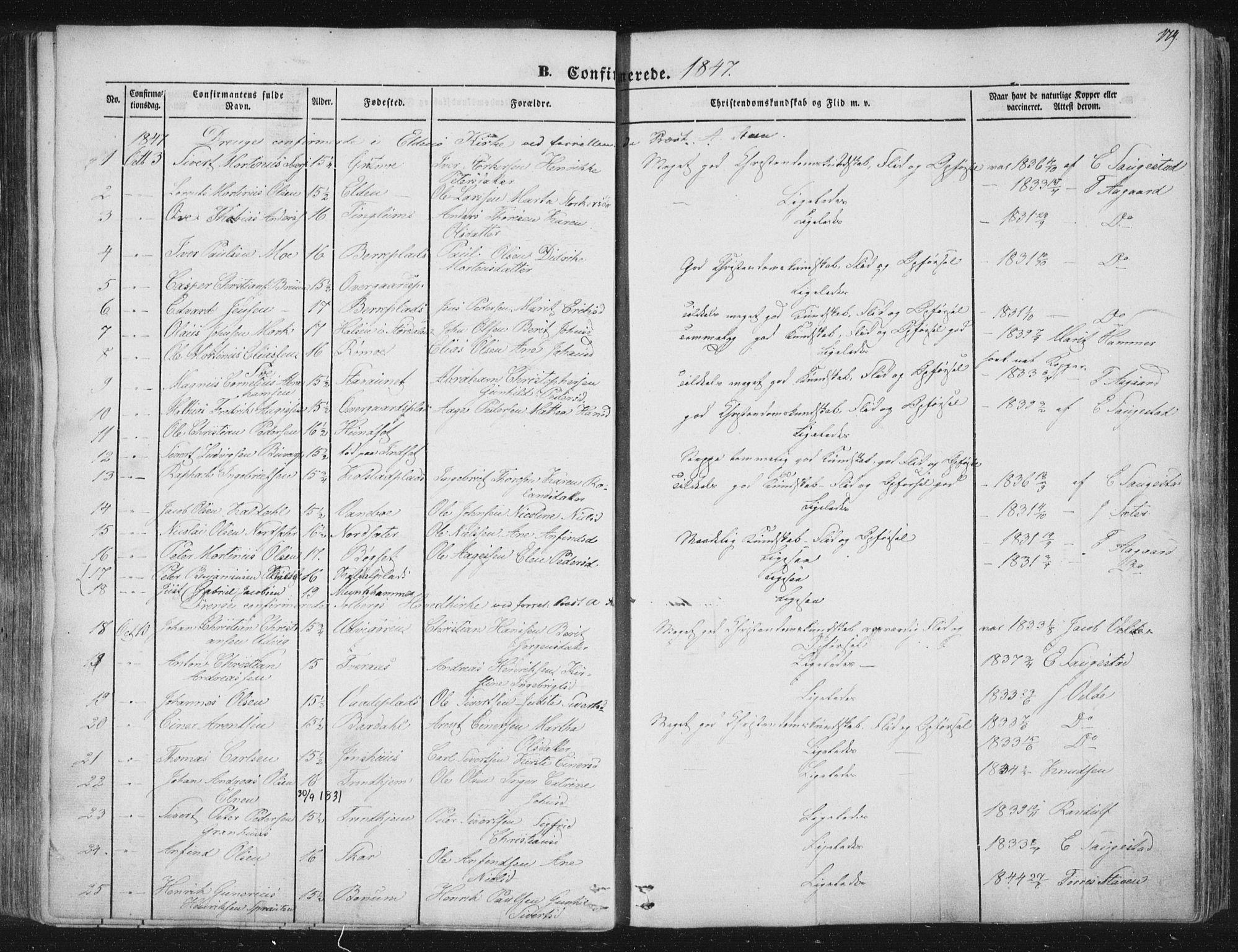 SAT, Ministerialprotokoller, klokkerbøker og fødselsregistre - Nord-Trøndelag, 741/L0392: Ministerialbok nr. 741A06, 1836-1848, s. 179