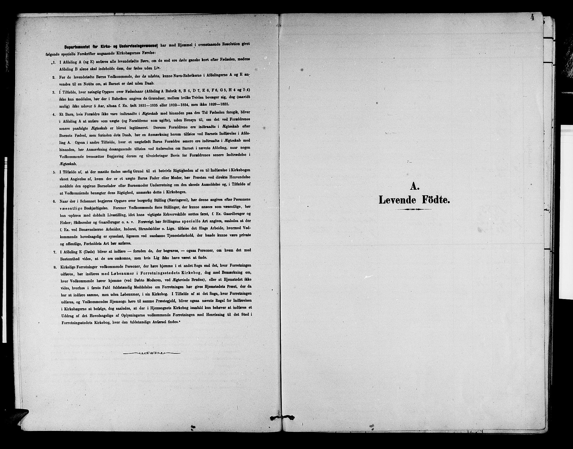 SAB, Aurland Sokneprestembete*, Klokkerbok nr. D 2, 1883-1920, s. 4