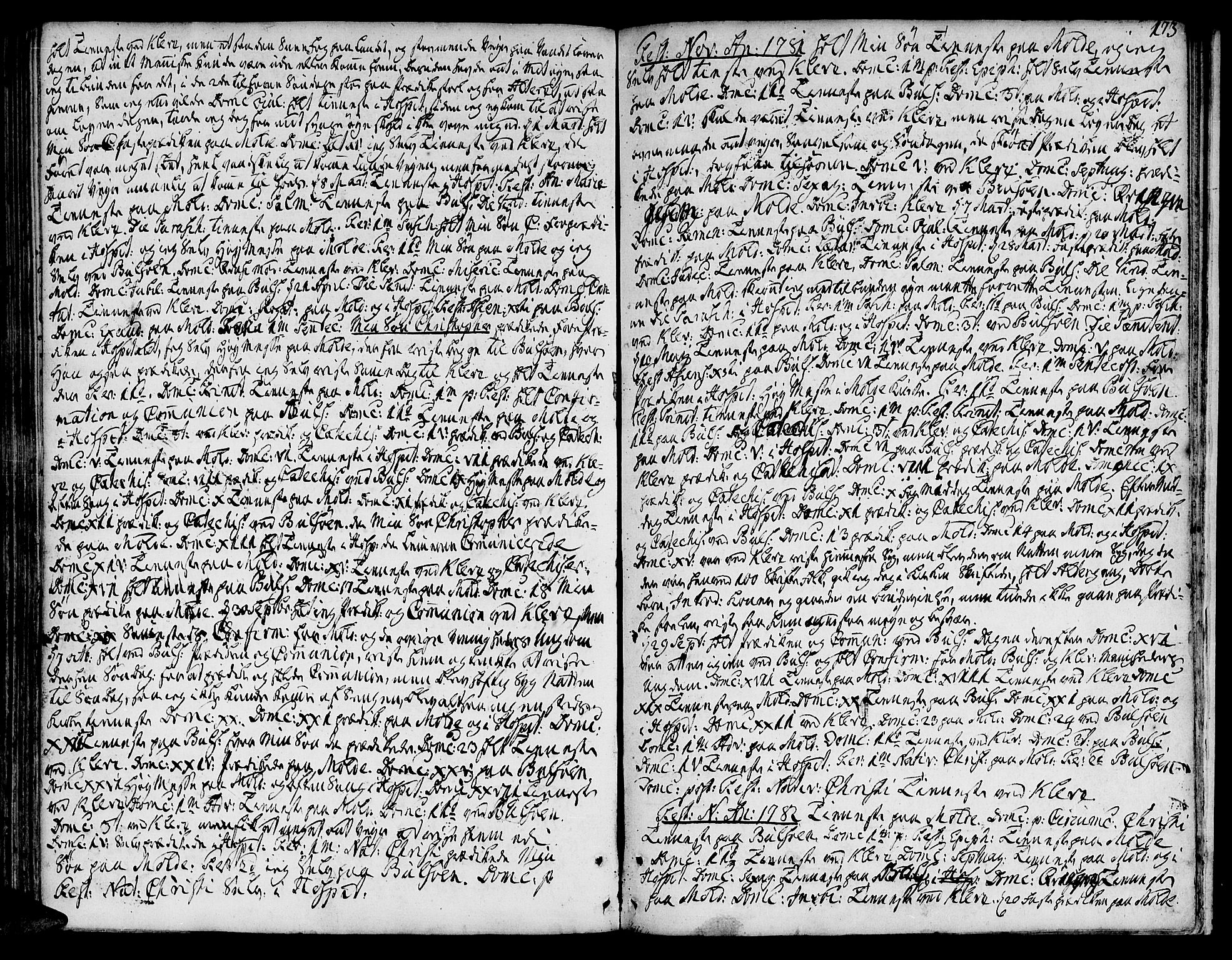 SAT, Ministerialprotokoller, klokkerbøker og fødselsregistre - Møre og Romsdal, 555/L0648: Ministerialbok nr. 555A01, 1759-1793, s. 173