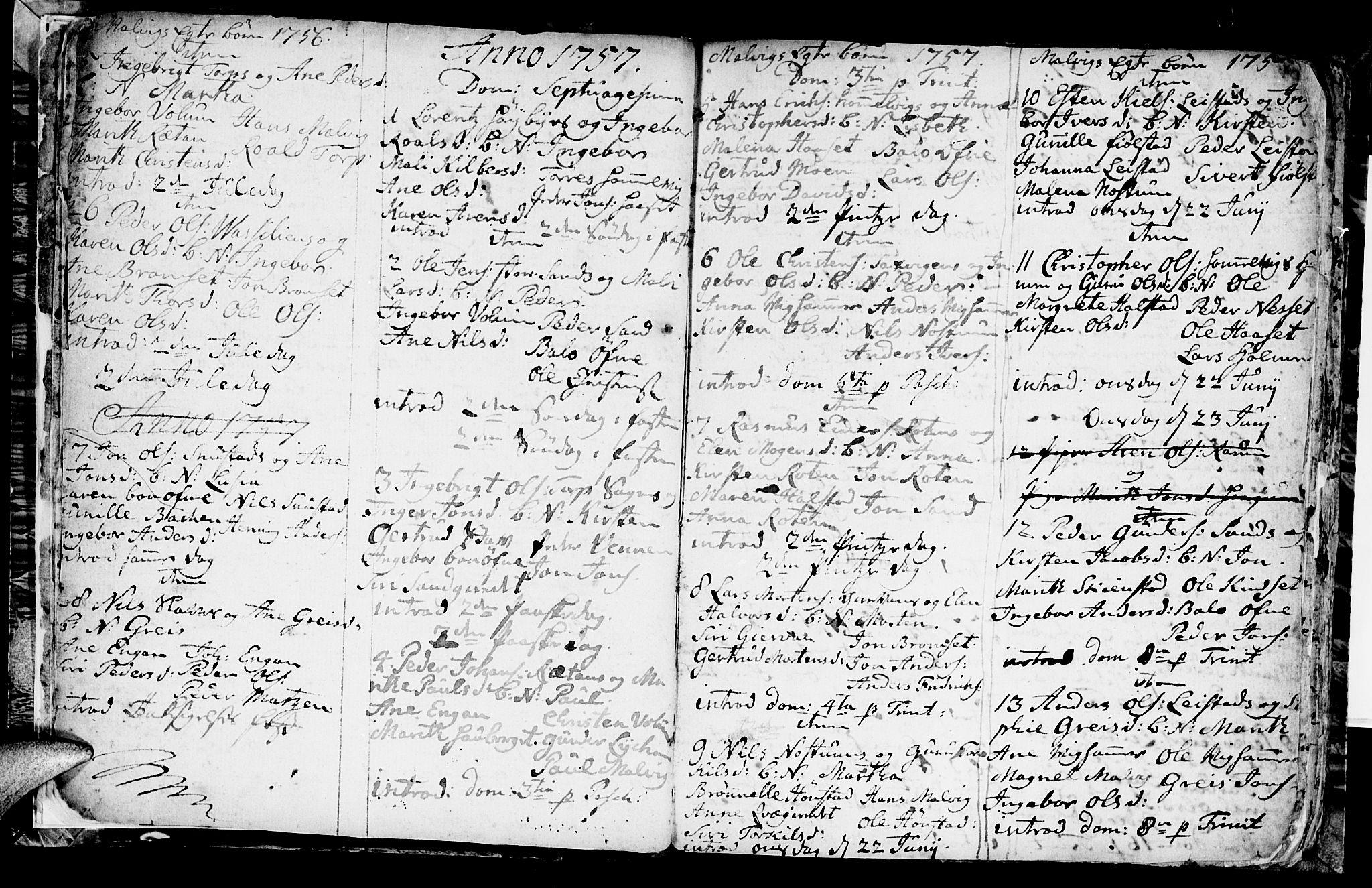 SAT, Ministerialprotokoller, klokkerbøker og fødselsregistre - Sør-Trøndelag, 616/L0418: Klokkerbok nr. 616C01, 1754-1797