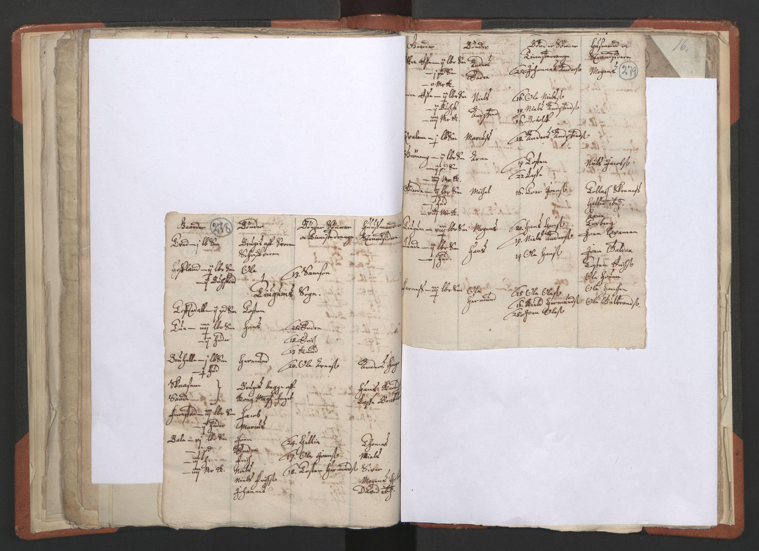 RA, Sogneprestenes manntall 1664-1666, nr. 23: Sogn prosti, 1664-1666, s. 278-279