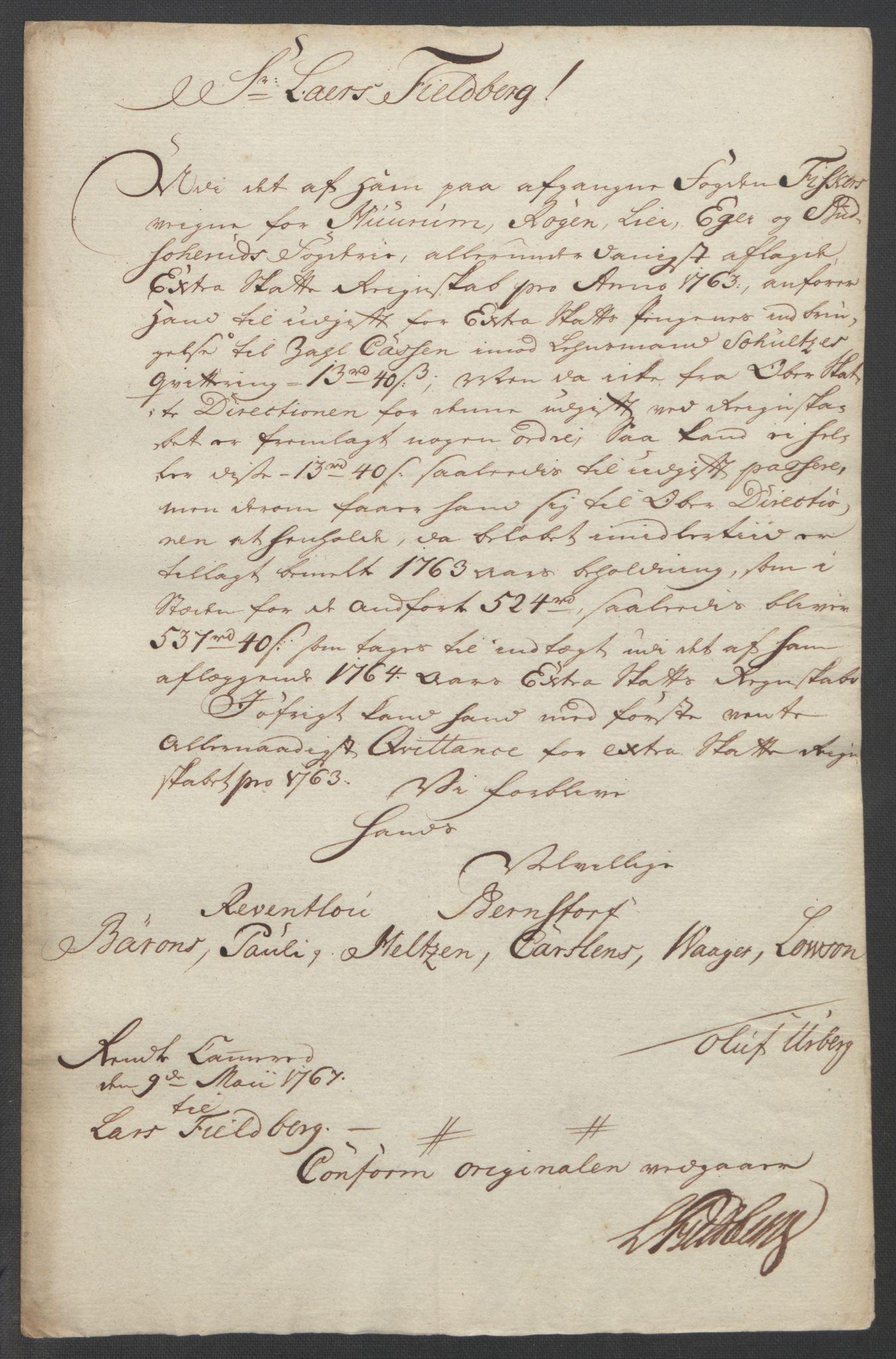 RA, Rentekammeret inntil 1814, Reviderte regnskaper, Fogderegnskap, R31/L1833: Ekstraskatten Hurum, Røyken, Eiker, Lier og Buskerud, 1762-1764, s. 216