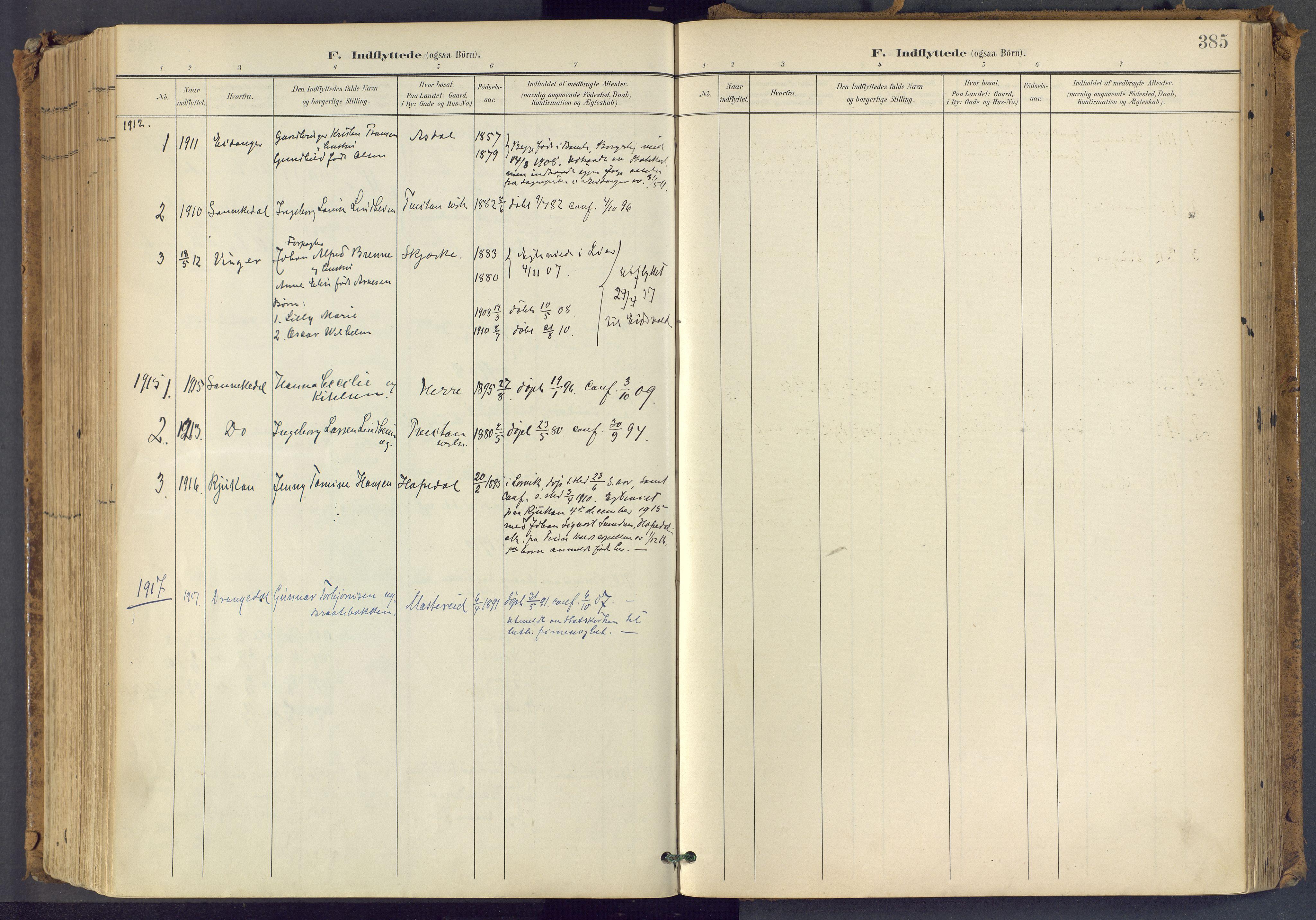 SAKO, Bamble kirkebøker, F/Fa/L0009: Ministerialbok nr. I 9, 1901-1917, s. 385