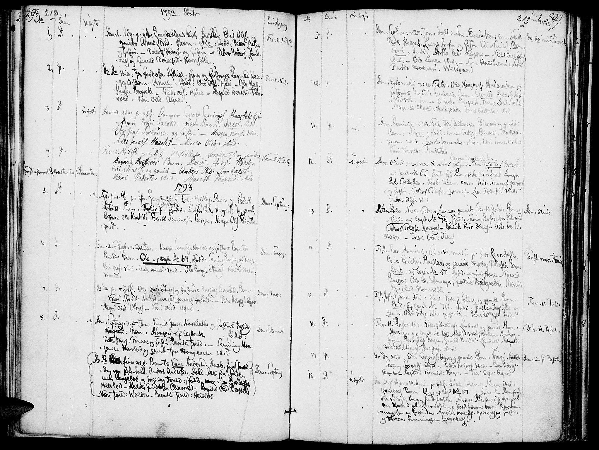 SAH, Rendalen prestekontor, H/Ha/Haa/L0002: Ministerialbok nr. 2, 1788-1814, s. 212-213