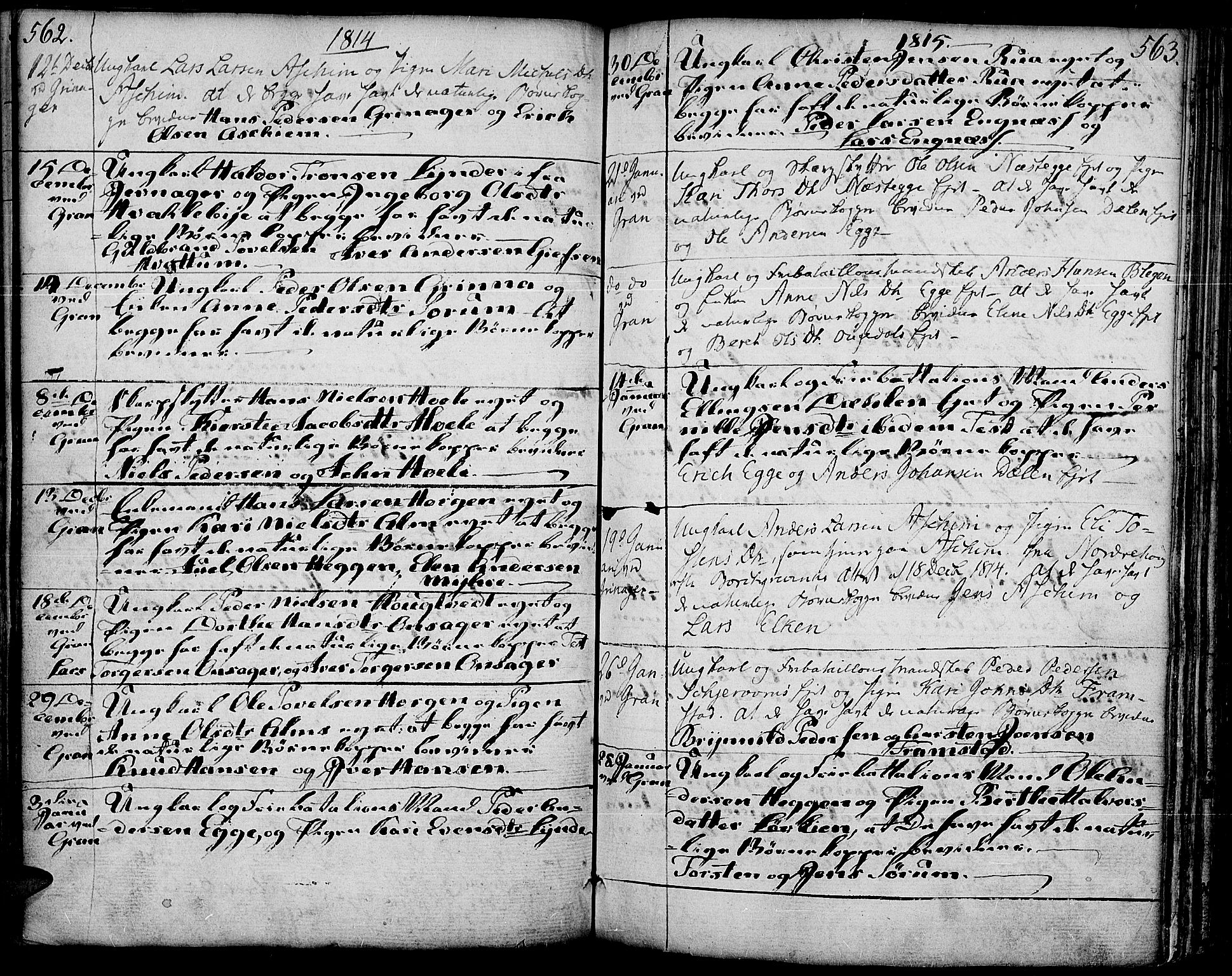 SAH, Gran prestekontor, Ministerialbok nr. 6, 1787-1824, s. 562-563
