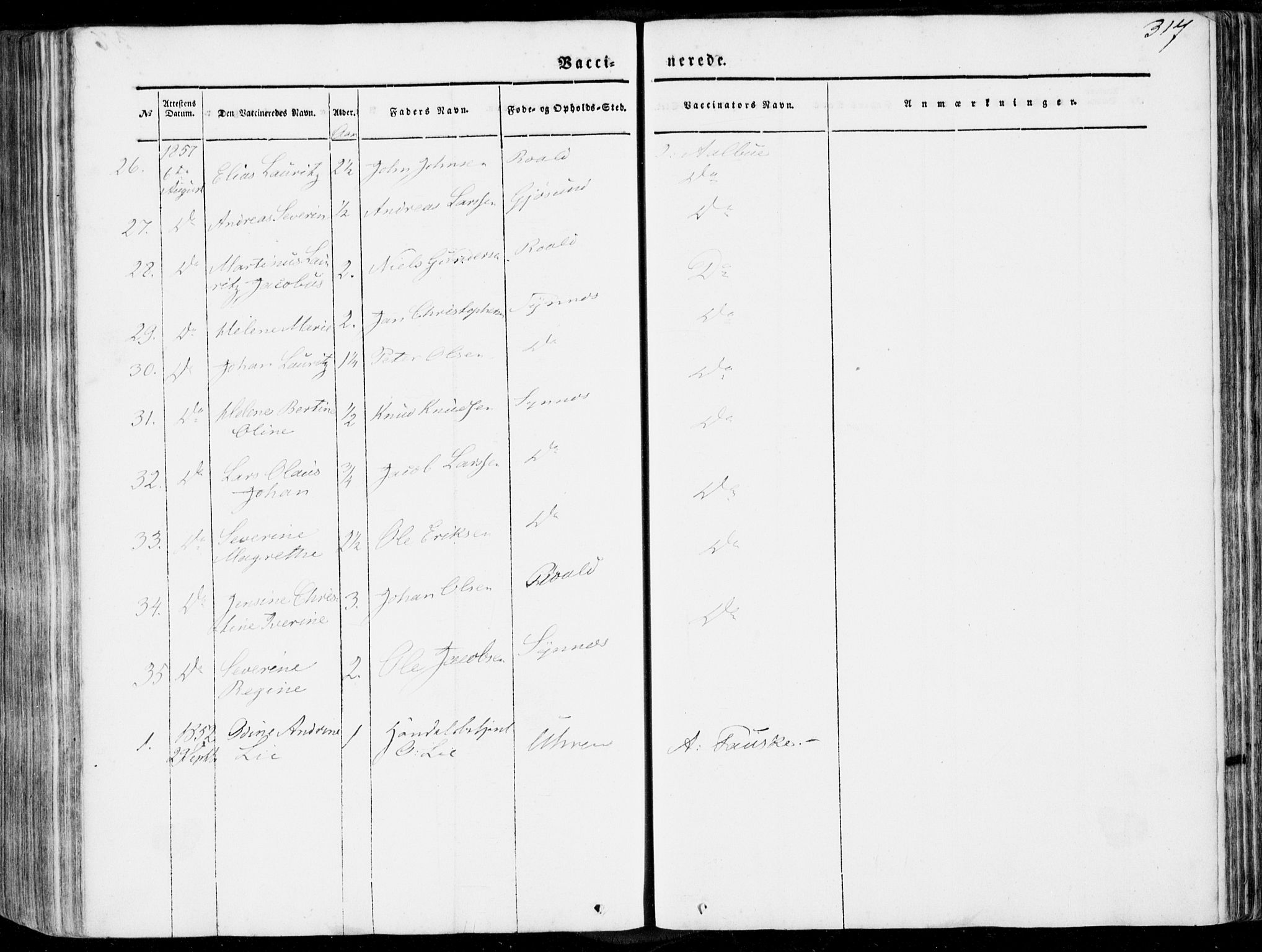 SAT, Ministerialprotokoller, klokkerbøker og fødselsregistre - Møre og Romsdal, 536/L0497: Ministerialbok nr. 536A06, 1845-1865, s. 317