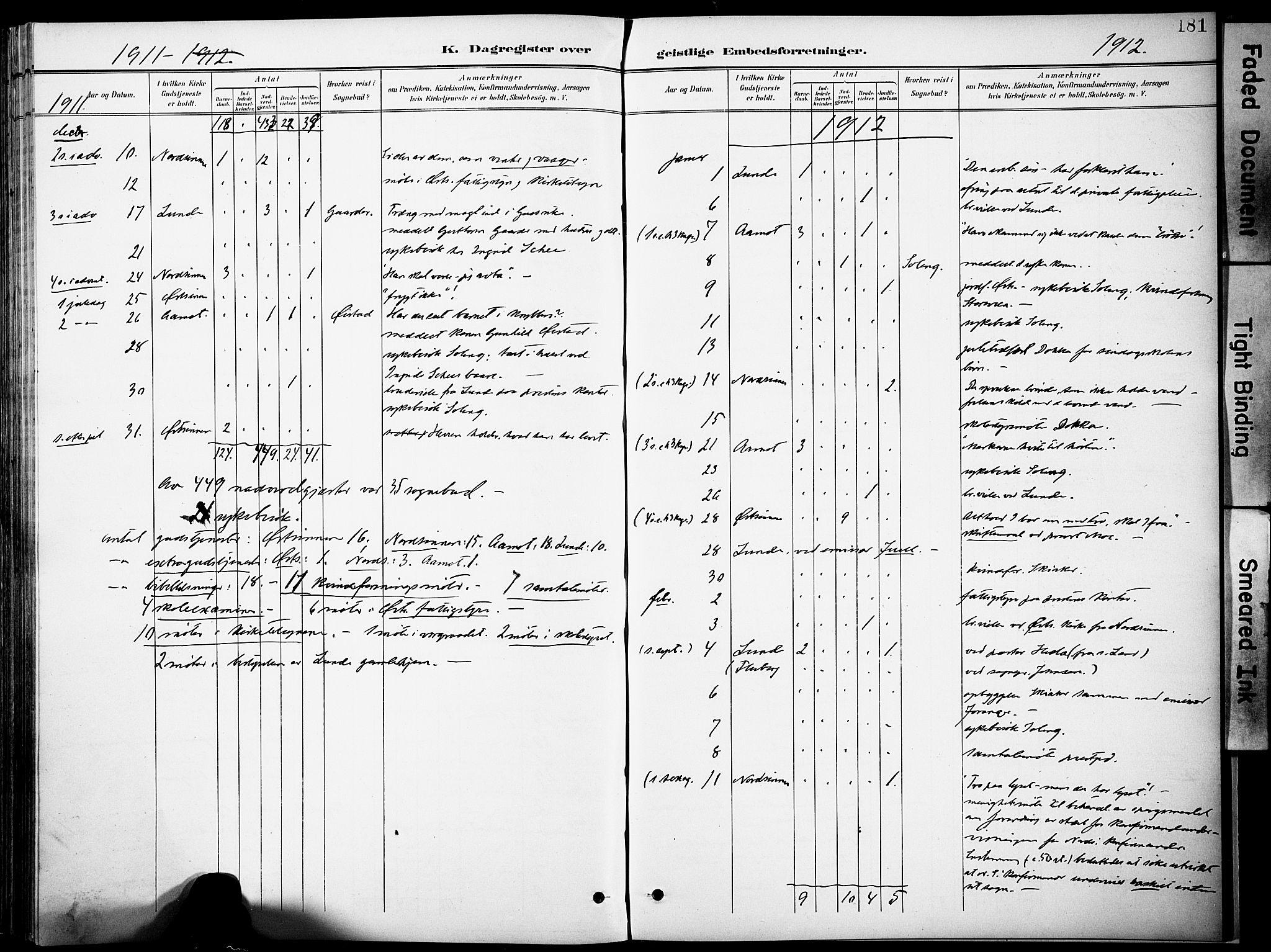SAH, Nordre Land prestekontor, Ministerialbok nr. 6, 1897-1914, s. 181