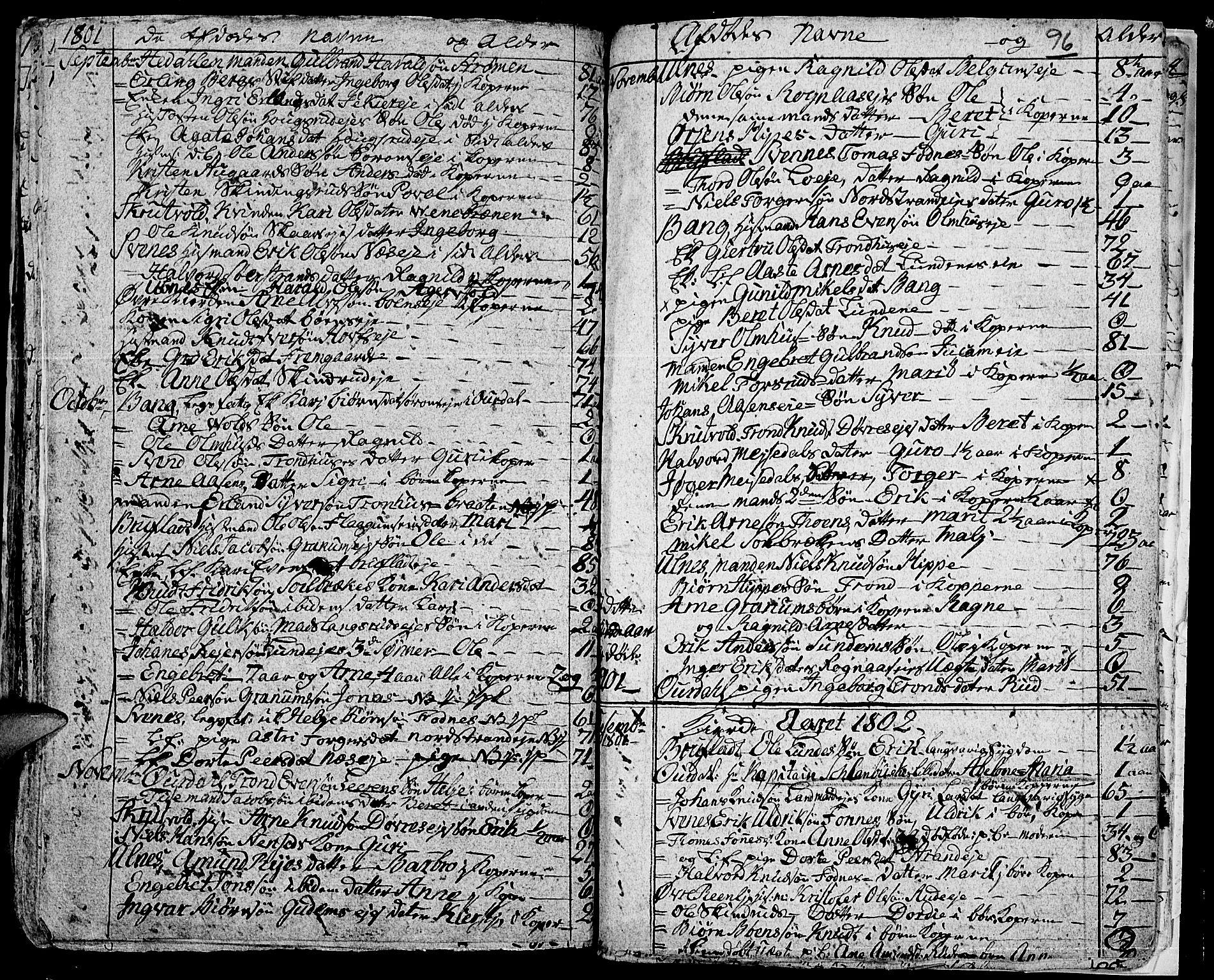 SAH, Aurdal prestekontor, Ministerialbok nr. 7, 1800-1808, s. 96