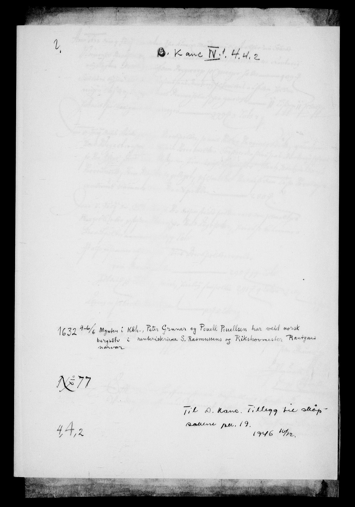 RA, Danske Kanselli, Skapsaker, G/L0019: Tillegg til skapsakene, 1616-1753, s. 66