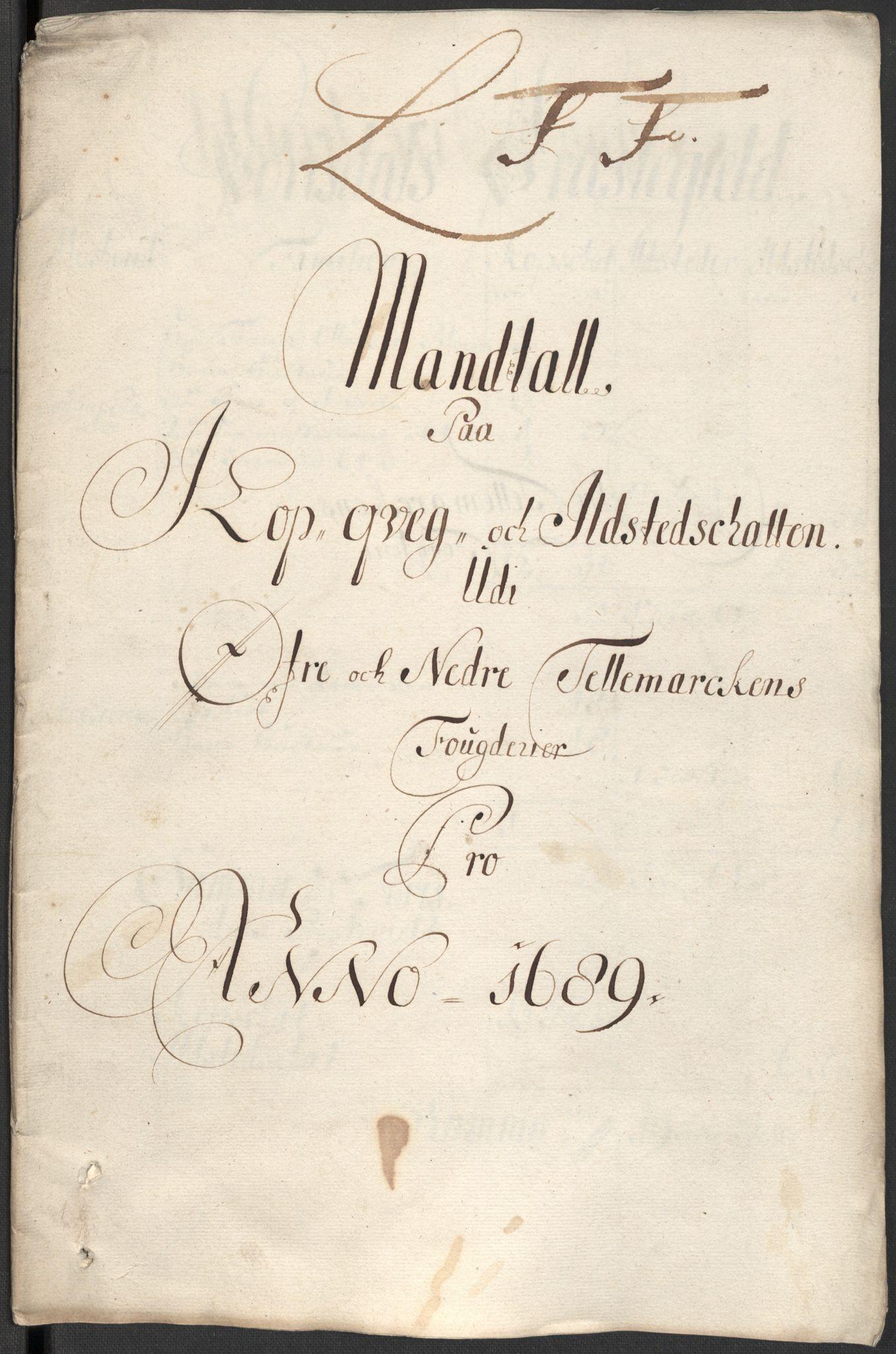 RA, Rentekammeret inntil 1814, Reviderte regnskaper, Fogderegnskap, R35/L2088: Fogderegnskap Øvre og Nedre Telemark, 1687-1689, s. 69