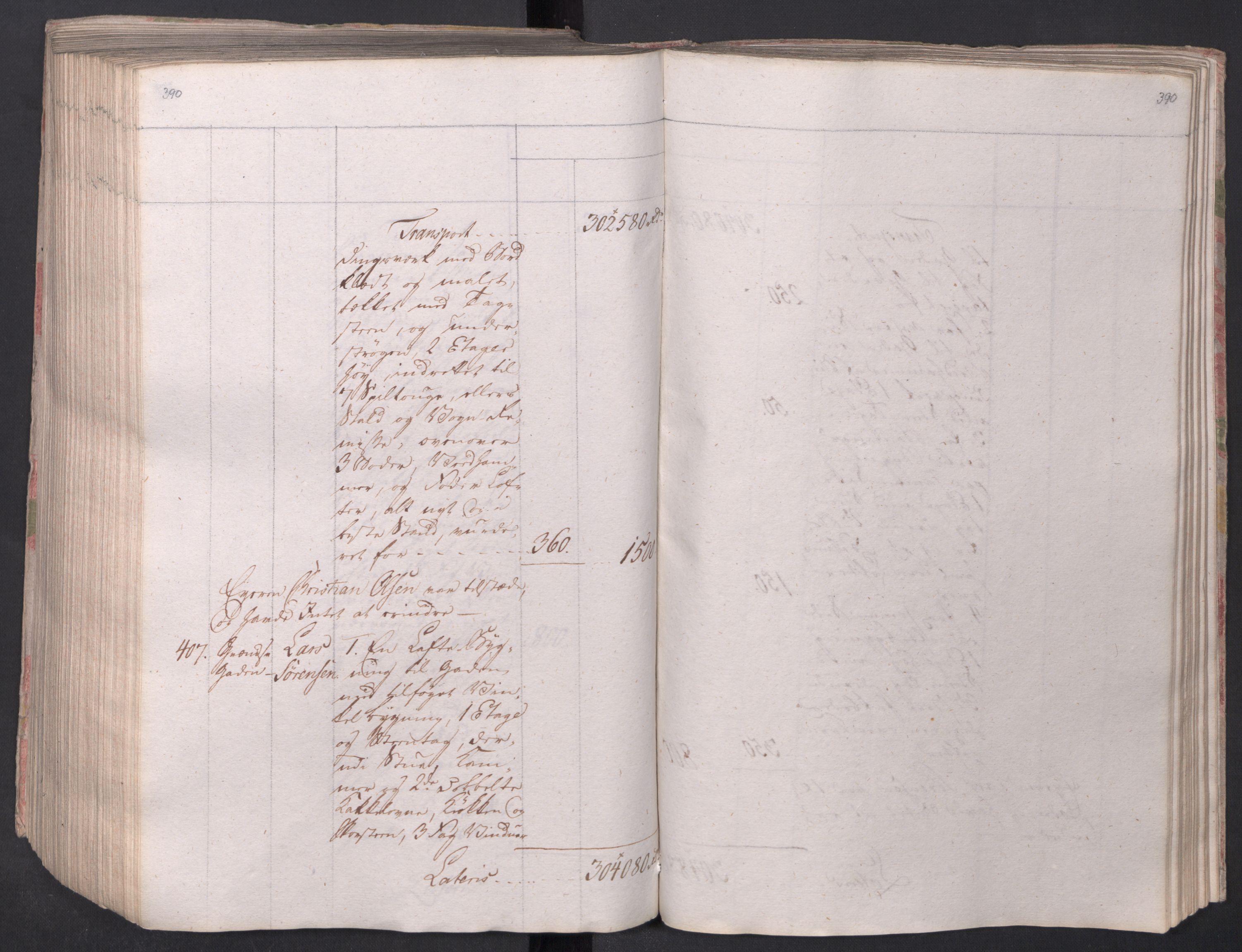 SAO, Kristiania stiftamt, I/Ia/L0015: Branntakster, 1797, s. 390