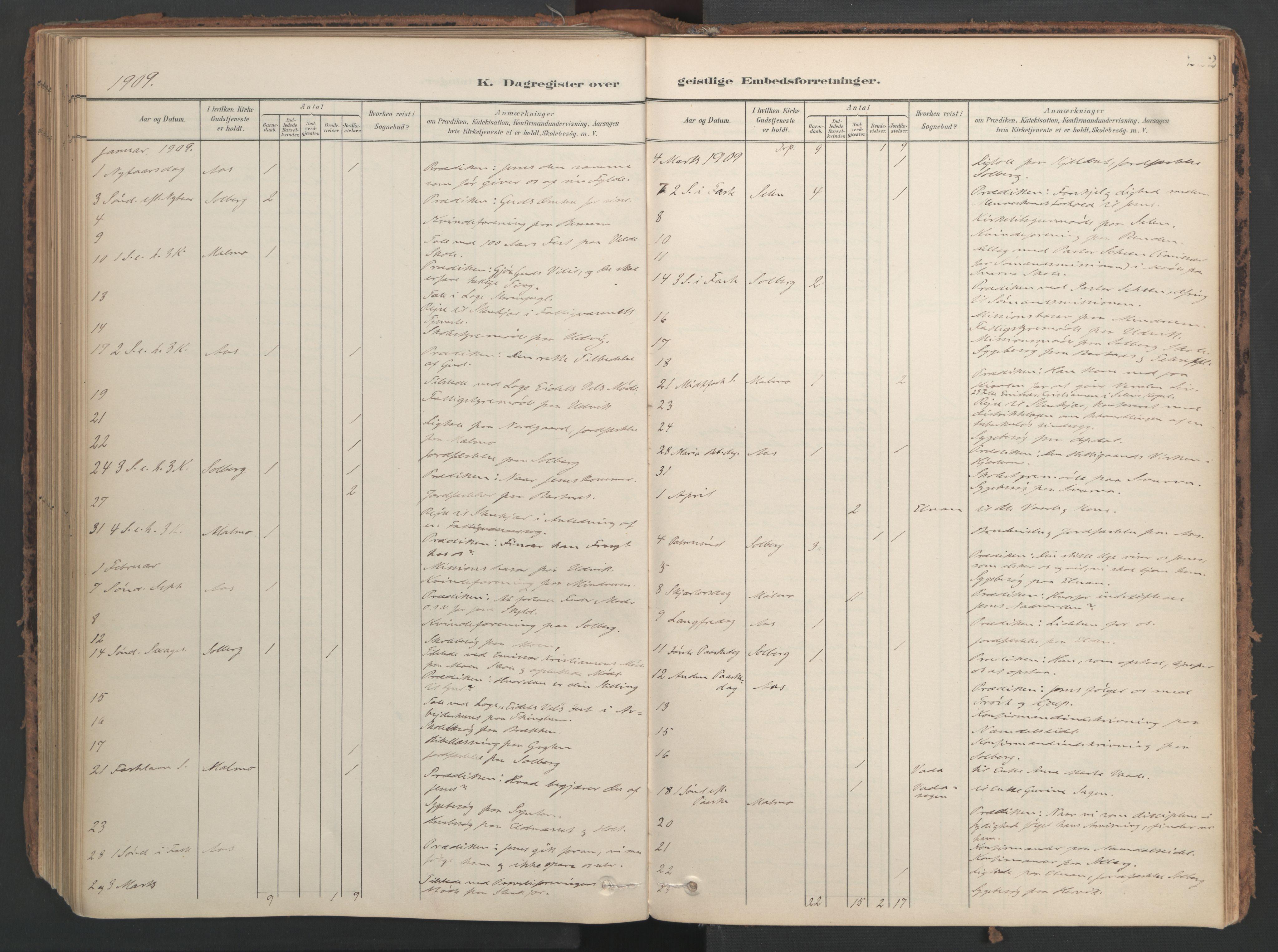 SAT, Ministerialprotokoller, klokkerbøker og fødselsregistre - Nord-Trøndelag, 741/L0397: Ministerialbok nr. 741A11, 1901-1911, s. 222