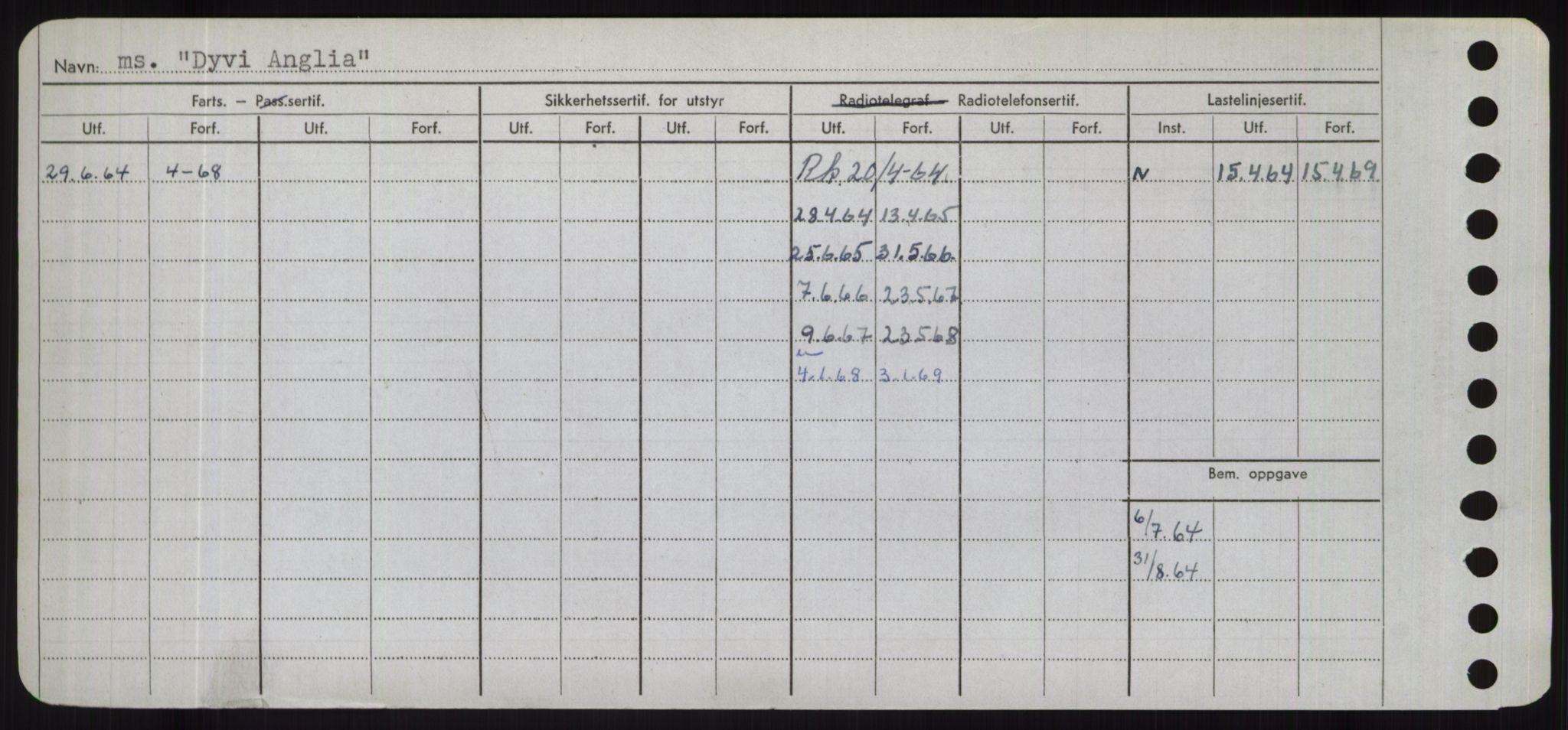 RA, Sjøfartsdirektoratet med forløpere, Skipsmålingen, H/Hd/L0008: Fartøy, C-D, s. 736