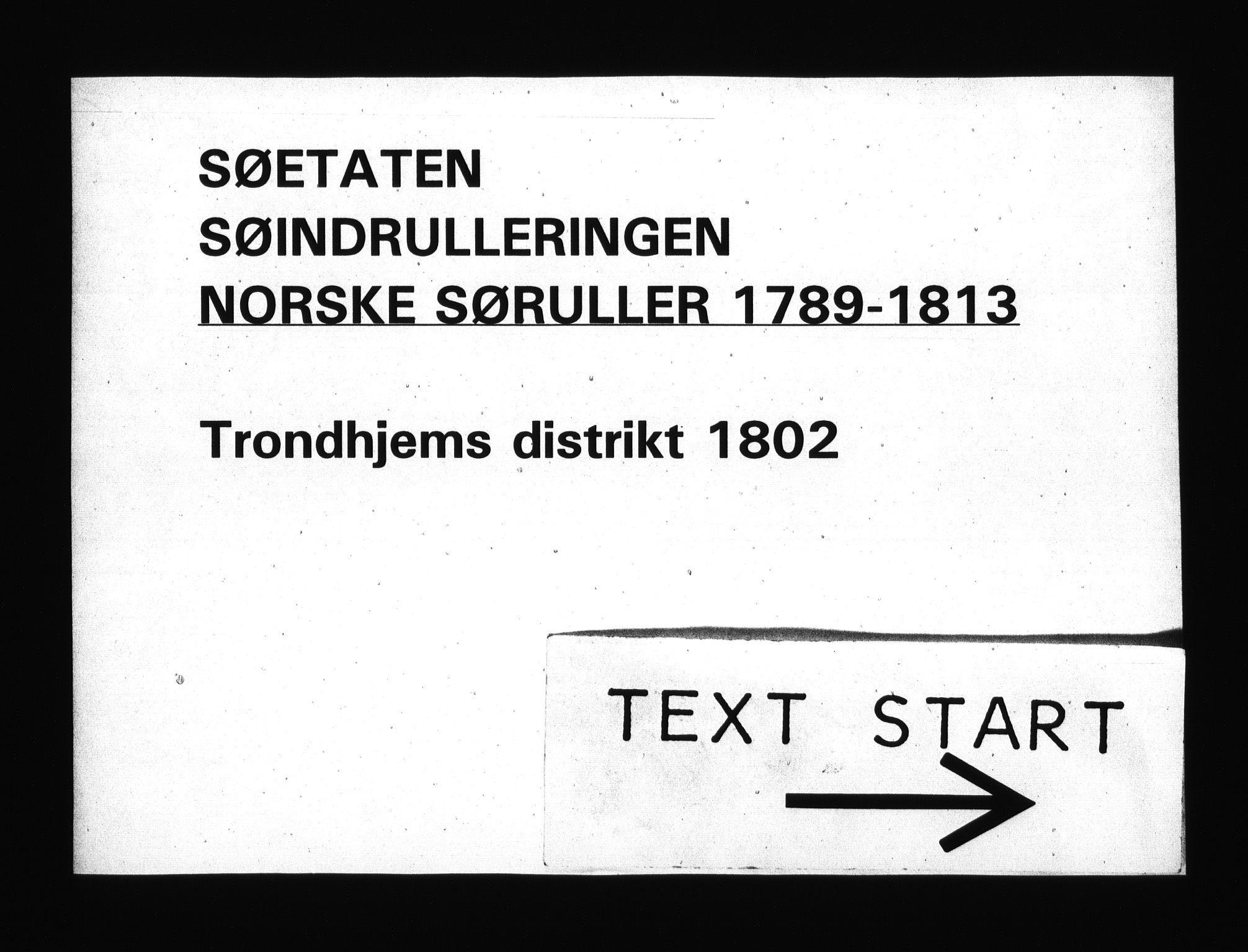 RA, Sjøetaten, F/L0330: Trondheim distrikt, bind 1, 1802