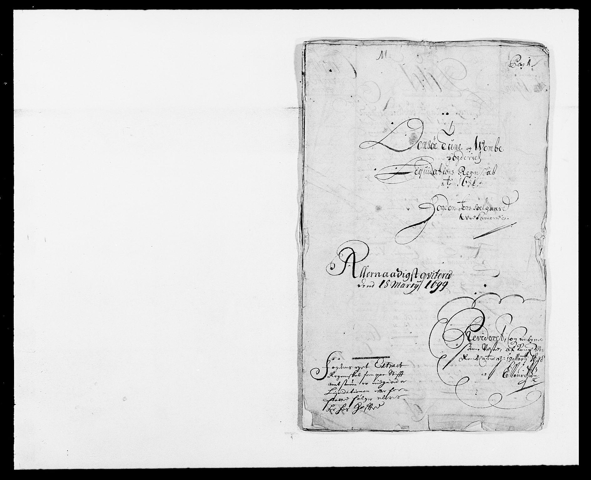 RA, Rentekammeret inntil 1814, Reviderte regnskaper, Fogderegnskap, R03/L0119: Fogderegnskap Onsøy, Tune, Veme og Åbygge fogderi, 1690-1691, s. 213