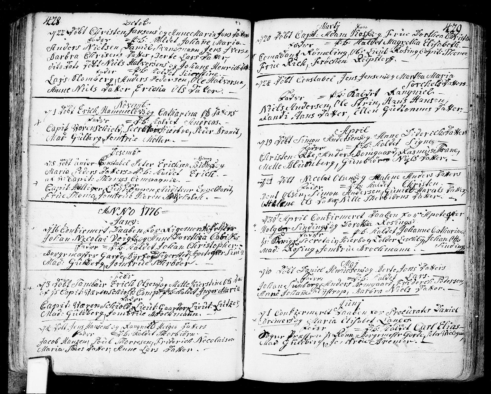 SAO, Fredrikstad prestekontor Kirkebøker, F/Fa/L0002: Ministerialbok nr. 2, 1750-1804, s. 428-429