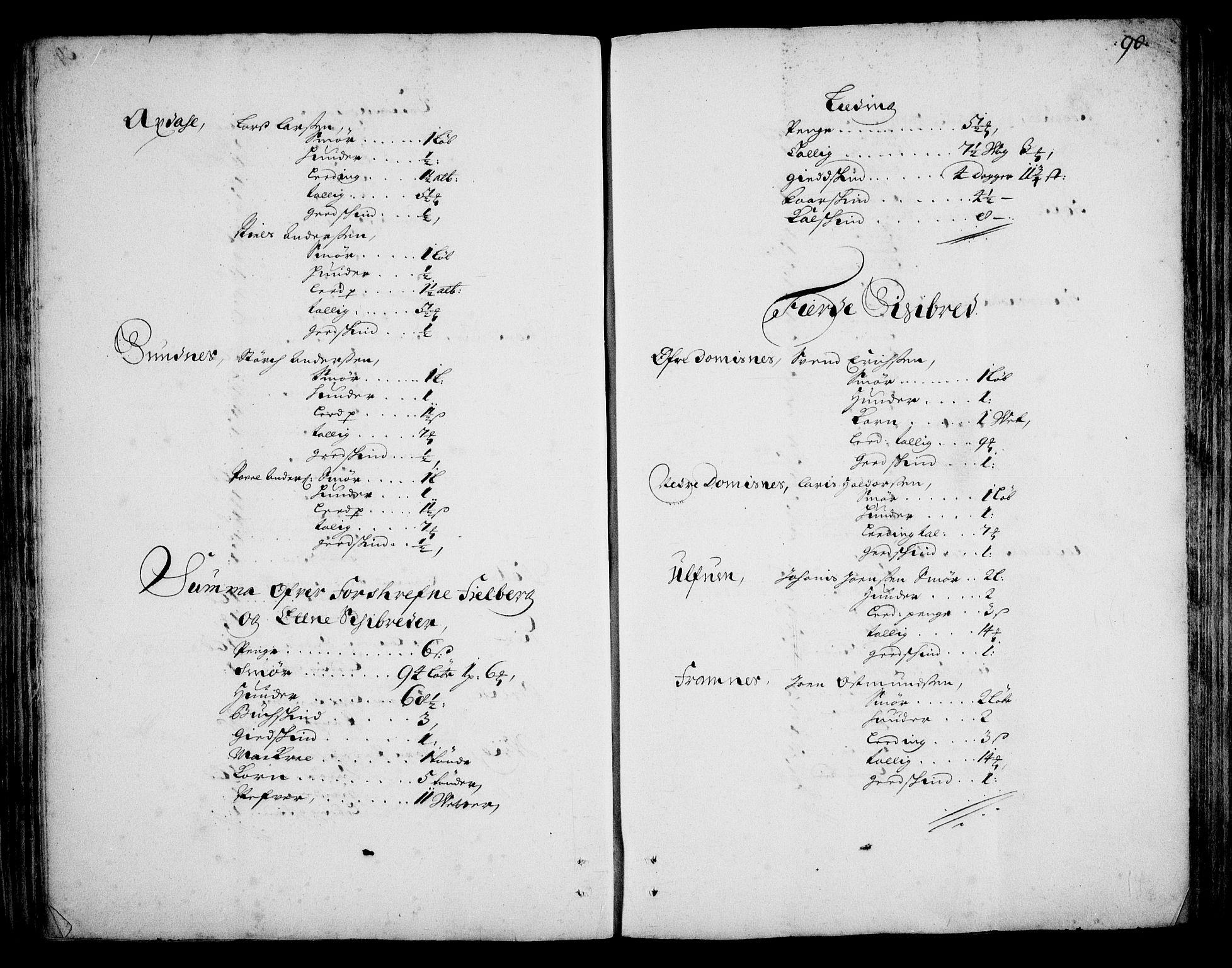 RA, Rentekammeret inntil 1814, Realistisk ordnet avdeling, On/L0002: [Jj 3]: Besiktigelsesforretninger over Halsnøy klosters gods, 1659-1703, s. 89b-90a