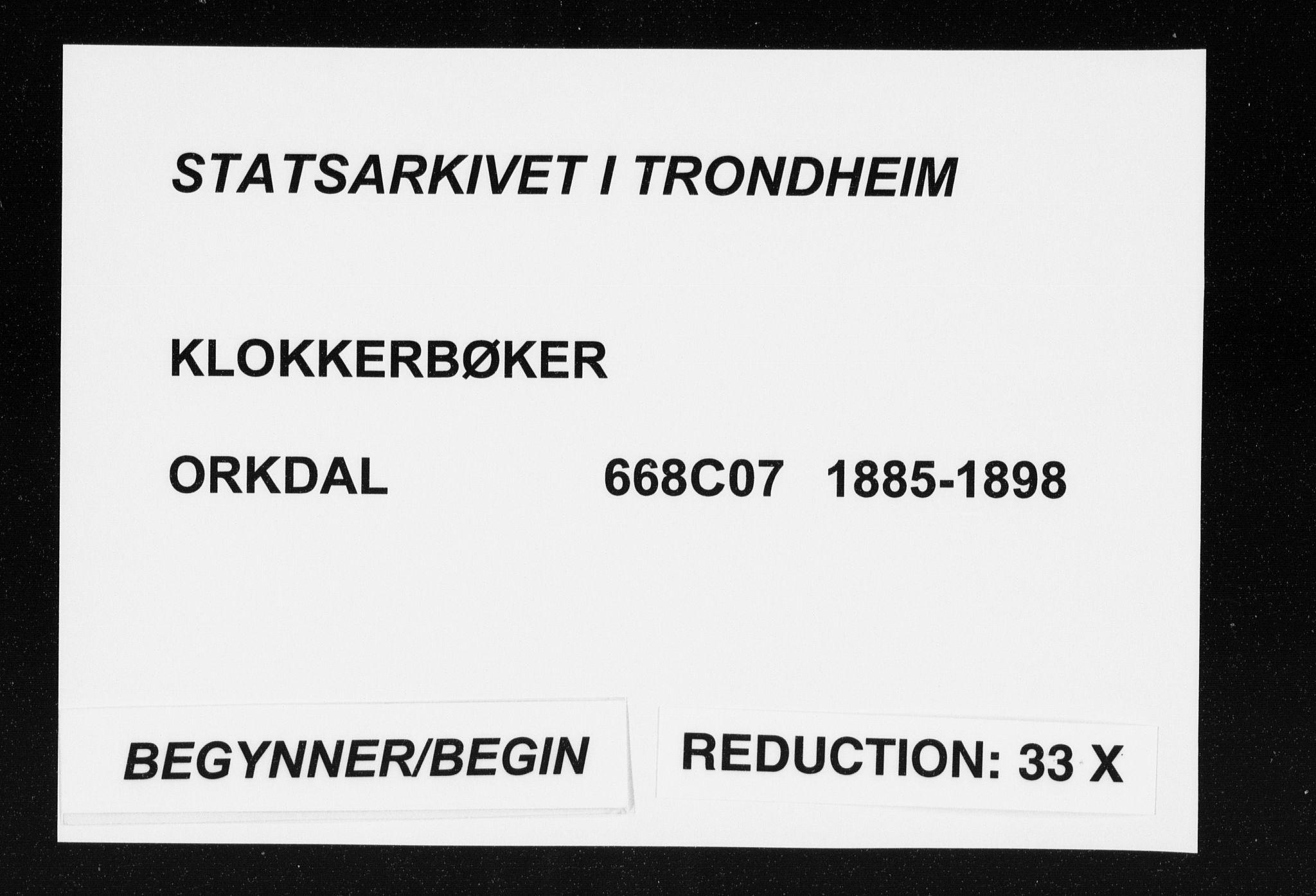 SAT, Ministerialprotokoller, klokkerbøker og fødselsregistre - Sør-Trøndelag, 668/L0818: Klokkerbok nr. 668C07, 1885-1898