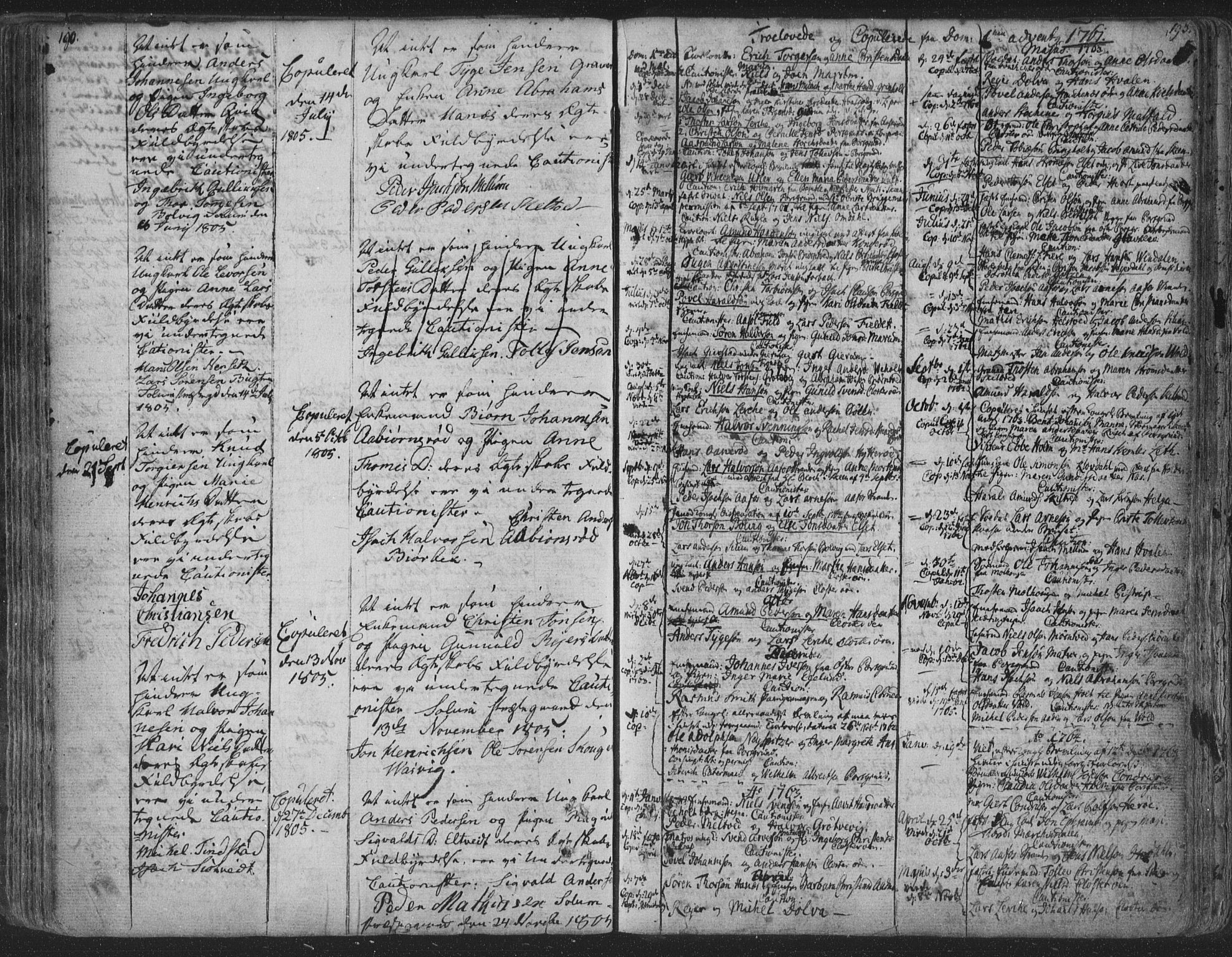 SAKO, Solum kirkebøker, F/Fa/L0003: Ministerialbok nr. I 3, 1761-1814, s. 192-193