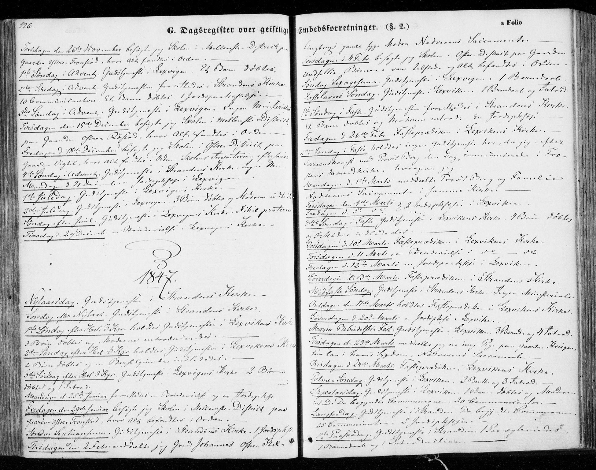 SAT, Ministerialprotokoller, klokkerbøker og fødselsregistre - Nord-Trøndelag, 701/L0007: Ministerialbok nr. 701A07 /1, 1842-1854, s. 426