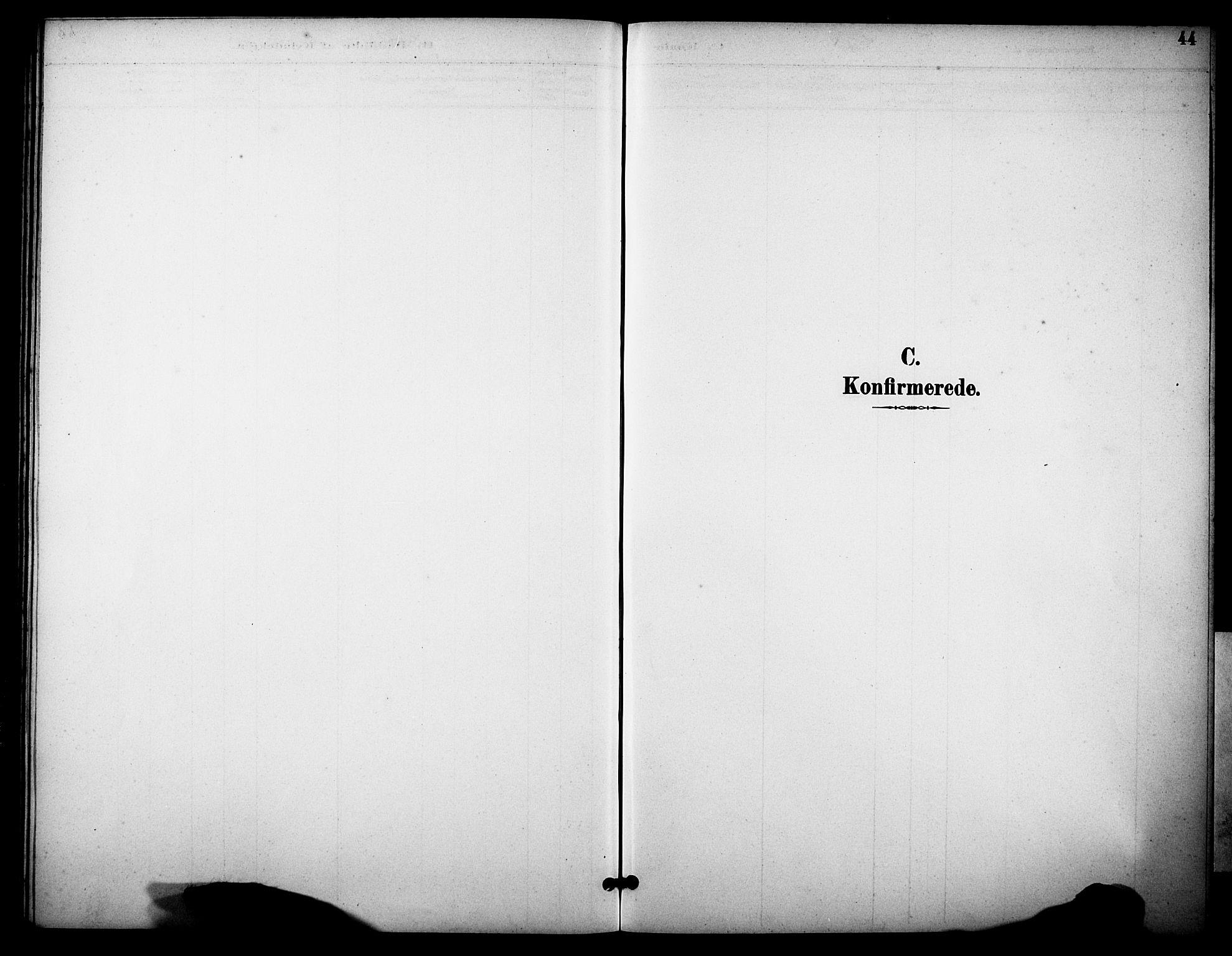 SAKO, Skåtøy kirkebøker, G/Gb/L0001: Klokkerbok nr. II 1, 1892-1916, s. 44