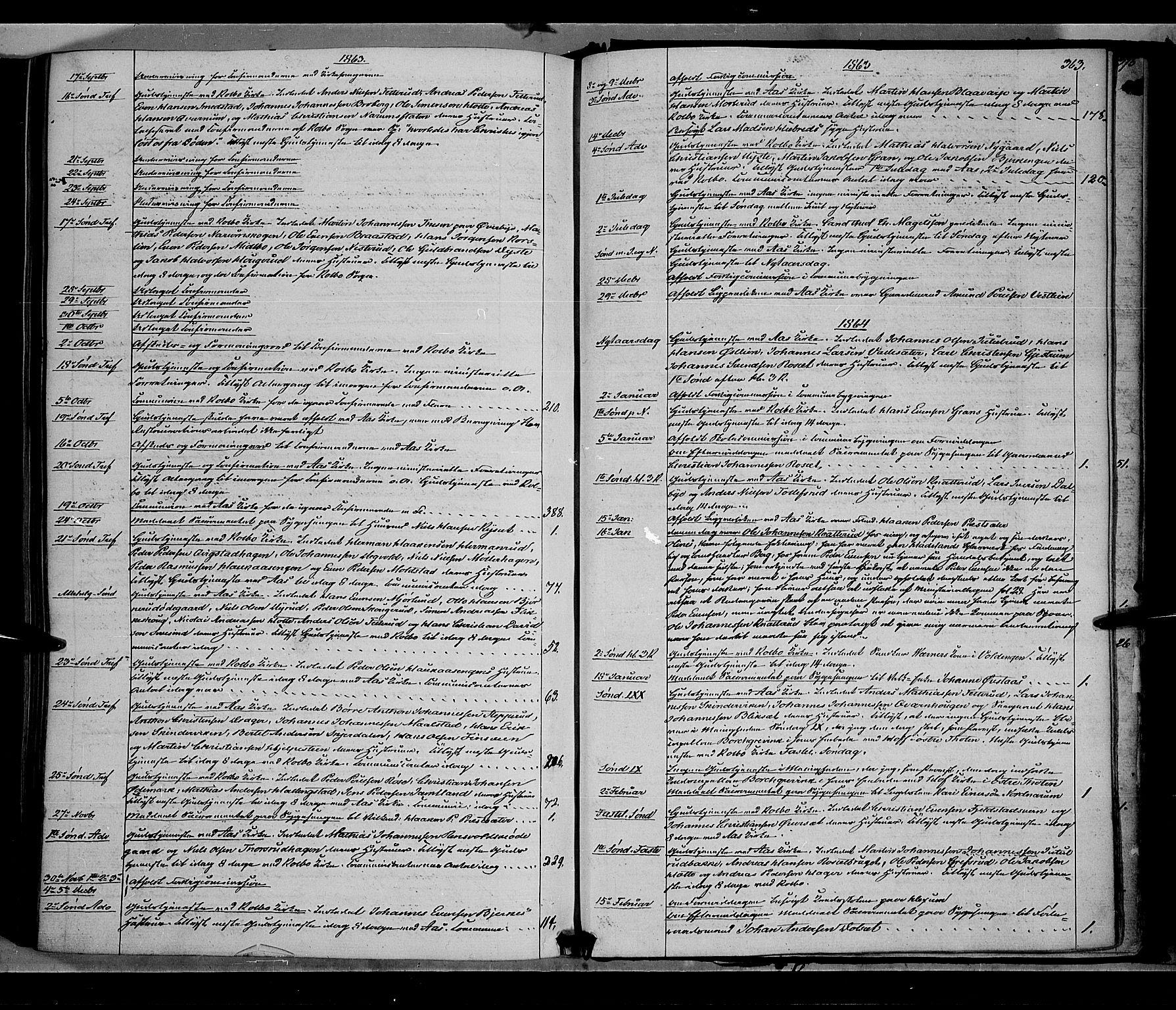 SAH, Vestre Toten prestekontor, H/Ha/Haa/L0007: Ministerialbok nr. 7, 1862-1869, s. 363