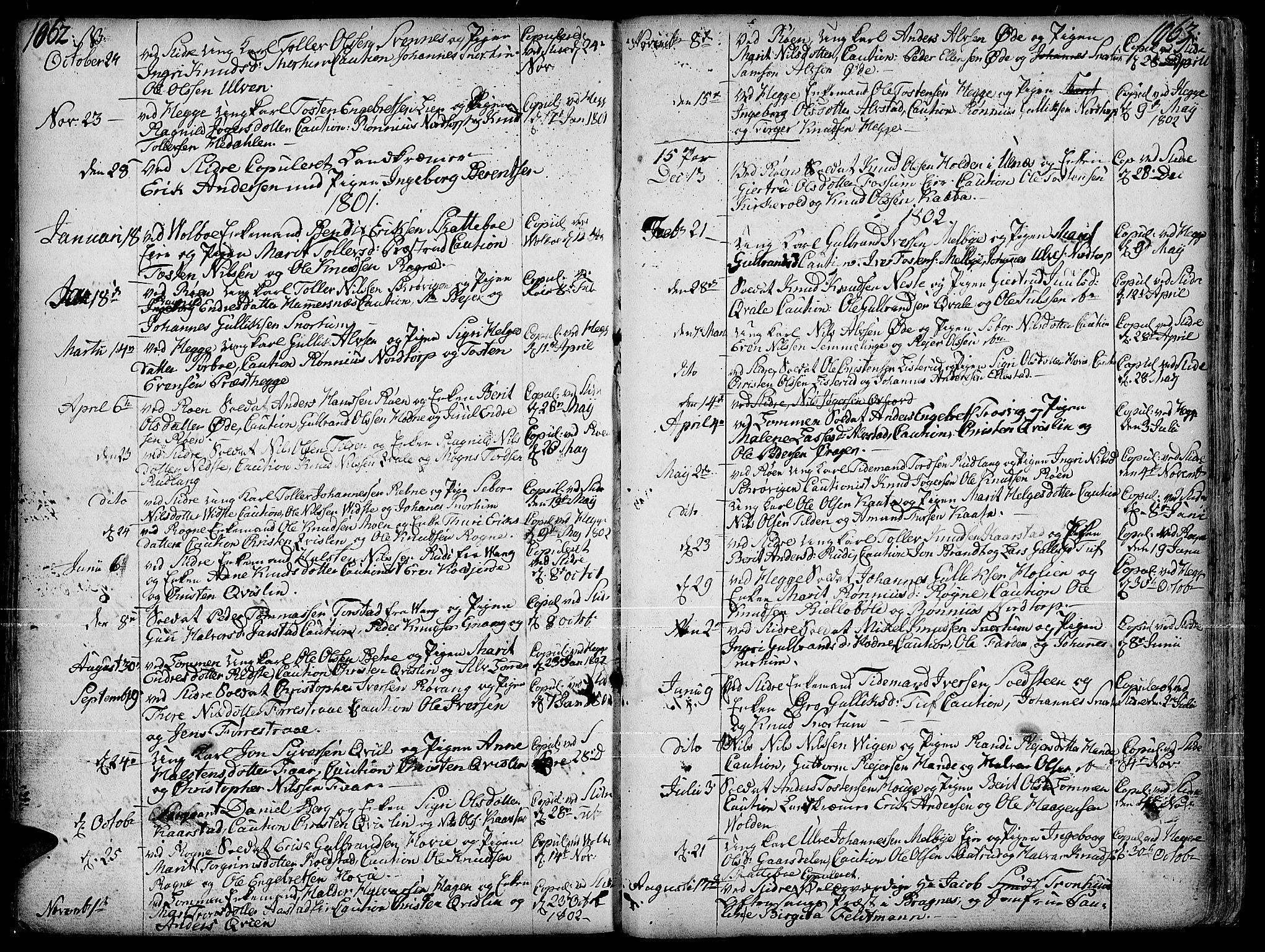 SAH, Slidre prestekontor, Ministerialbok nr. 1, 1724-1814, s. 1062-1063