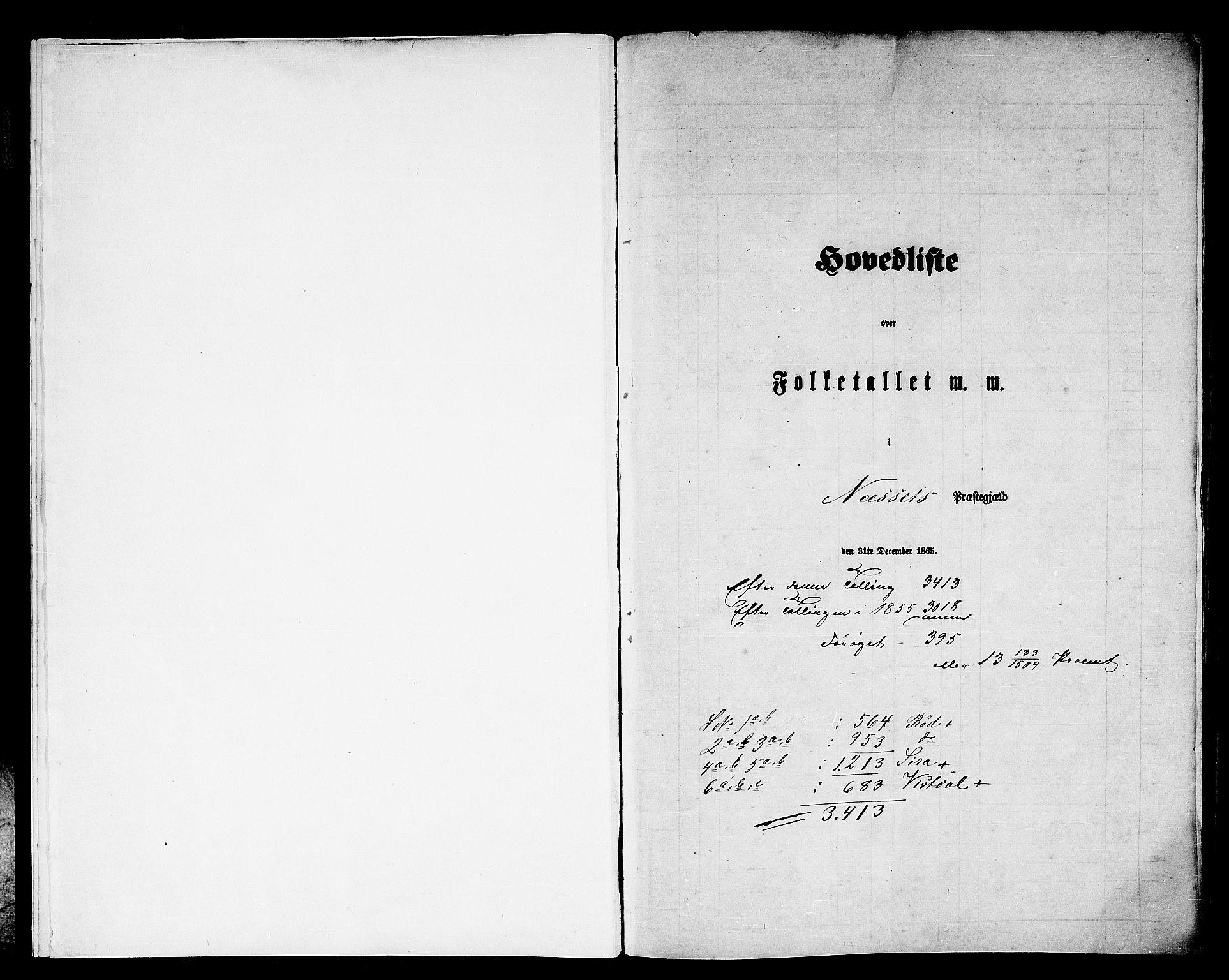 RA, Folketelling 1865 for 1543P Nesset prestegjeld, 1865, s. 5