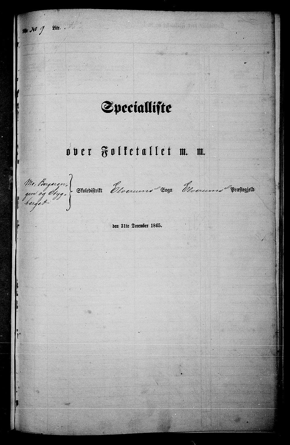 RA, Folketelling 1865 for 0427P Elverum prestegjeld, 1865, s. 204