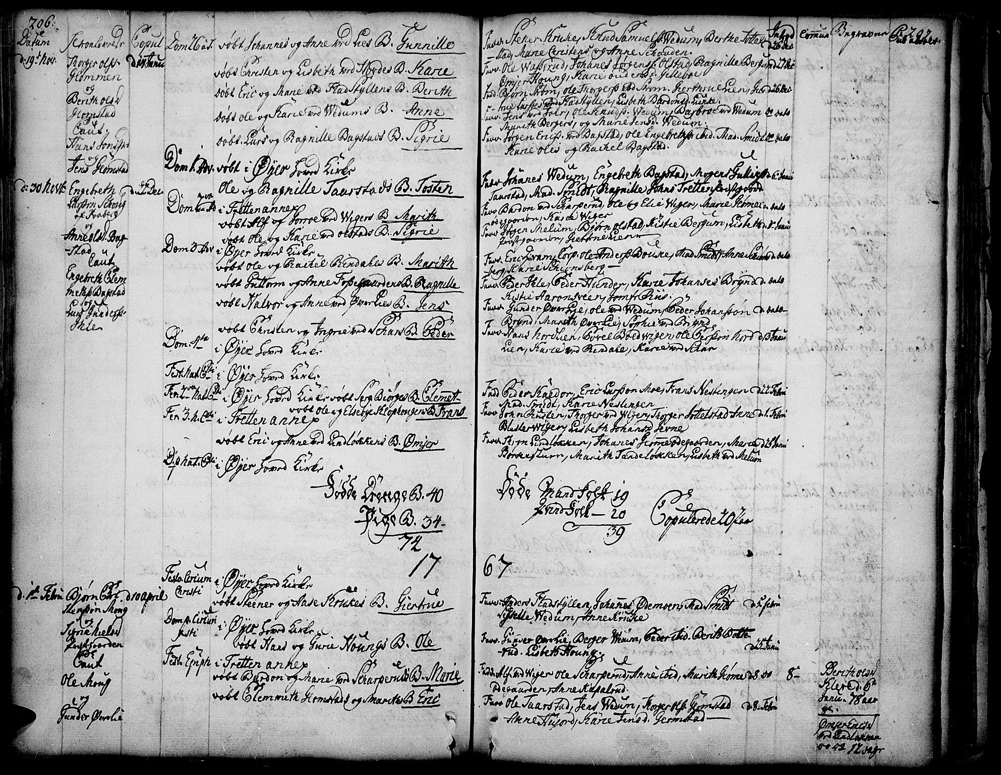 SAH, Øyer prestekontor, Ministerialbok nr. 2, 1733-1784, s. 206-207