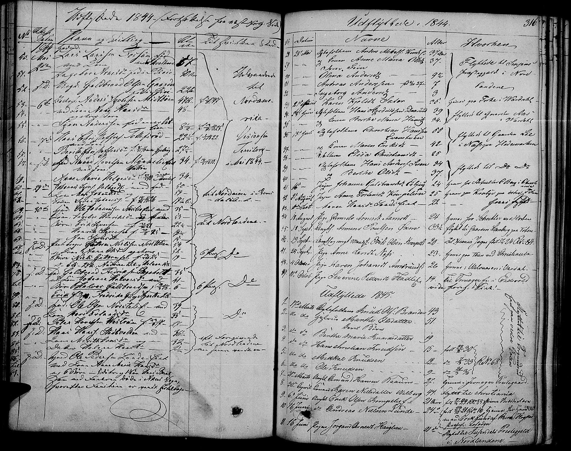 SAH, Land prestekontor, Ministerialbok nr. 8, 1830-1846, s. 316