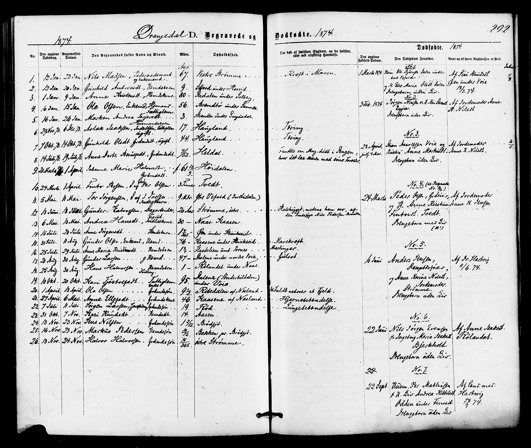 SAKO, Drangedal kirkebøker, F/Fa/L0009: Ministerialbok nr. 9 /1, 1872-1884, s. 292