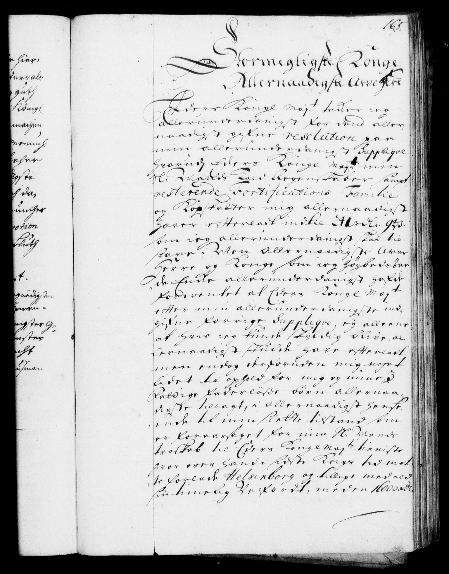 RA, Rentekammeret, Kammerkanselliet, G/Gf/Gfa/L0001: Resolusjonsprotokoll med register (merket RK 52.1), 1695-1706, s. 165