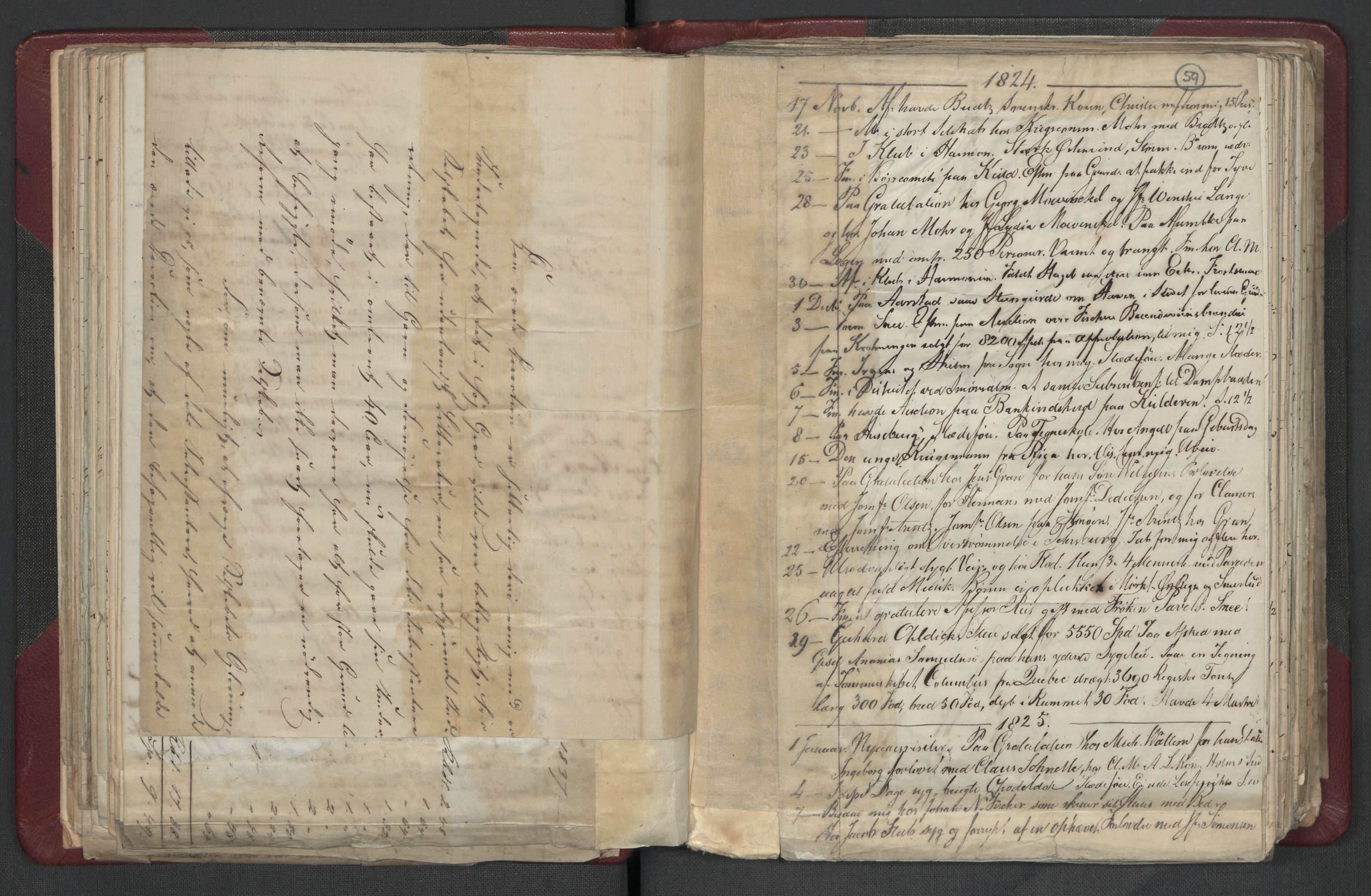 RA, Meltzer, Fredrik, F/L0003: Dagbok, 1821-1831, s. 58b-59a
