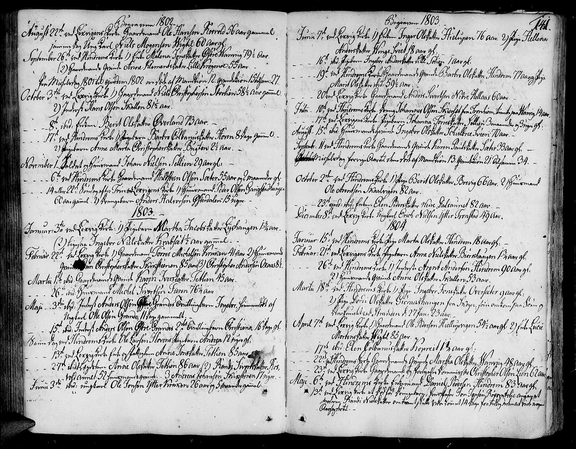 SAT, Ministerialprotokoller, klokkerbøker og fødselsregistre - Nord-Trøndelag, 701/L0004: Ministerialbok nr. 701A04, 1783-1816, s. 141